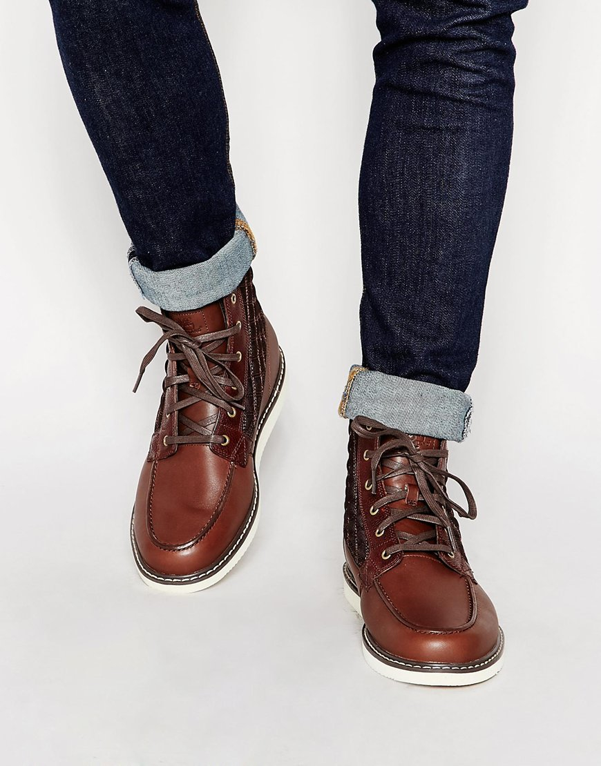 Timberland Newmarket Moc Toe Boots In Brown For Men Lyst
