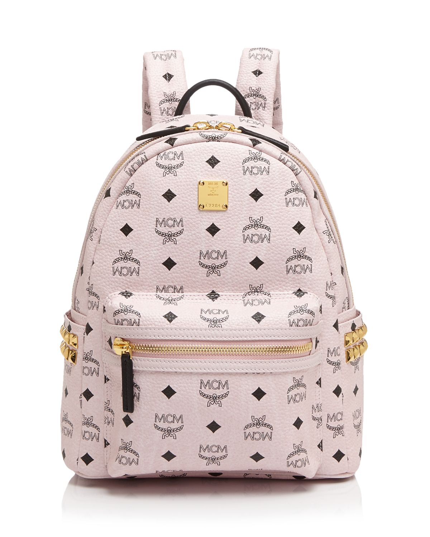 mcm backpack stark side stud small in pink lyst. Black Bedroom Furniture Sets. Home Design Ideas