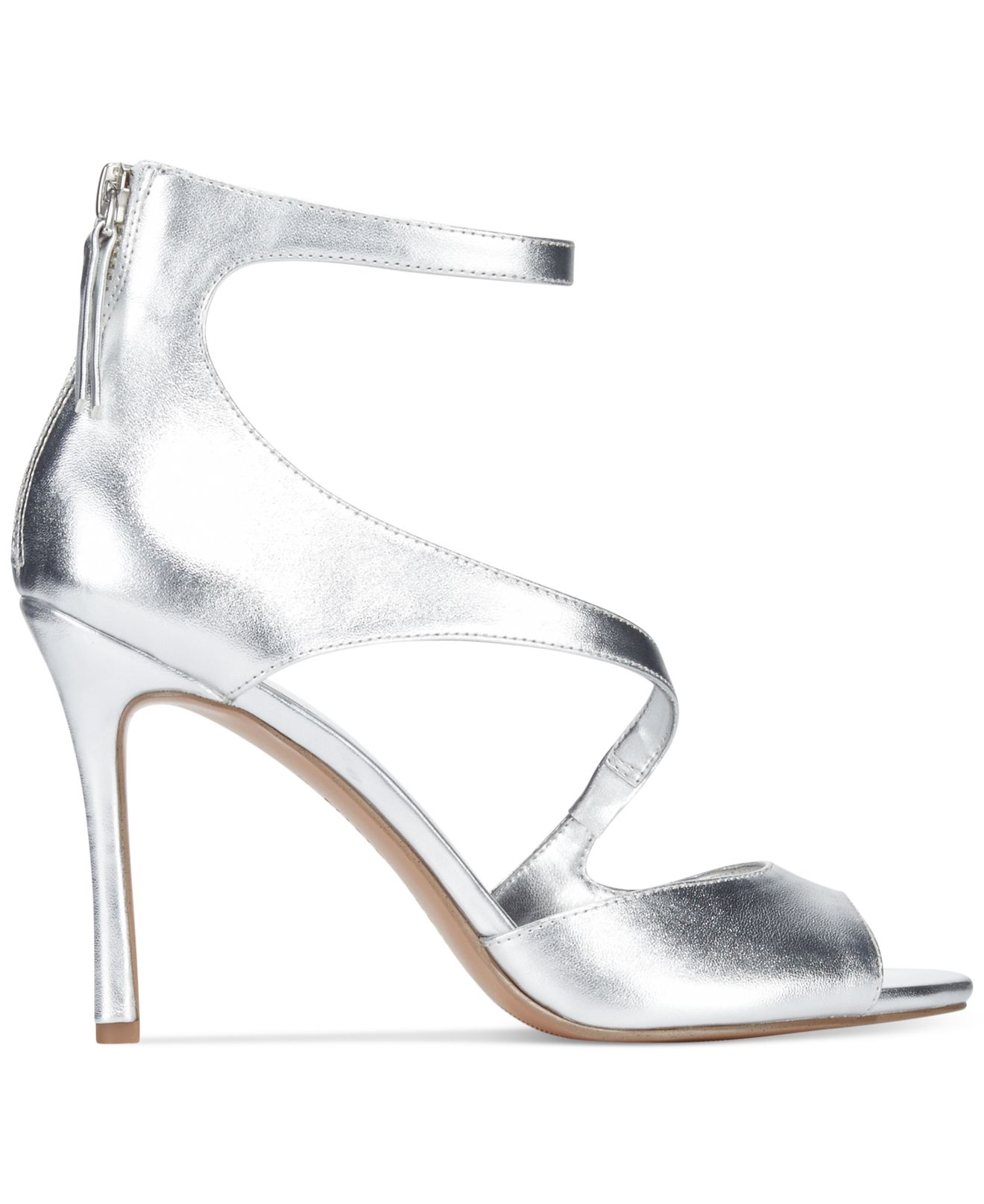 6d193e0378c Lyst - Nine West Festivitie High Heel Evening Sandals in Metallic