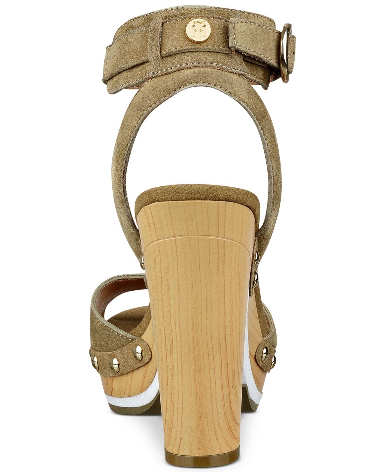 1daa252eb3a Lyst - Tommy Hilfiger Wendel Platform Dress Sandals in Green