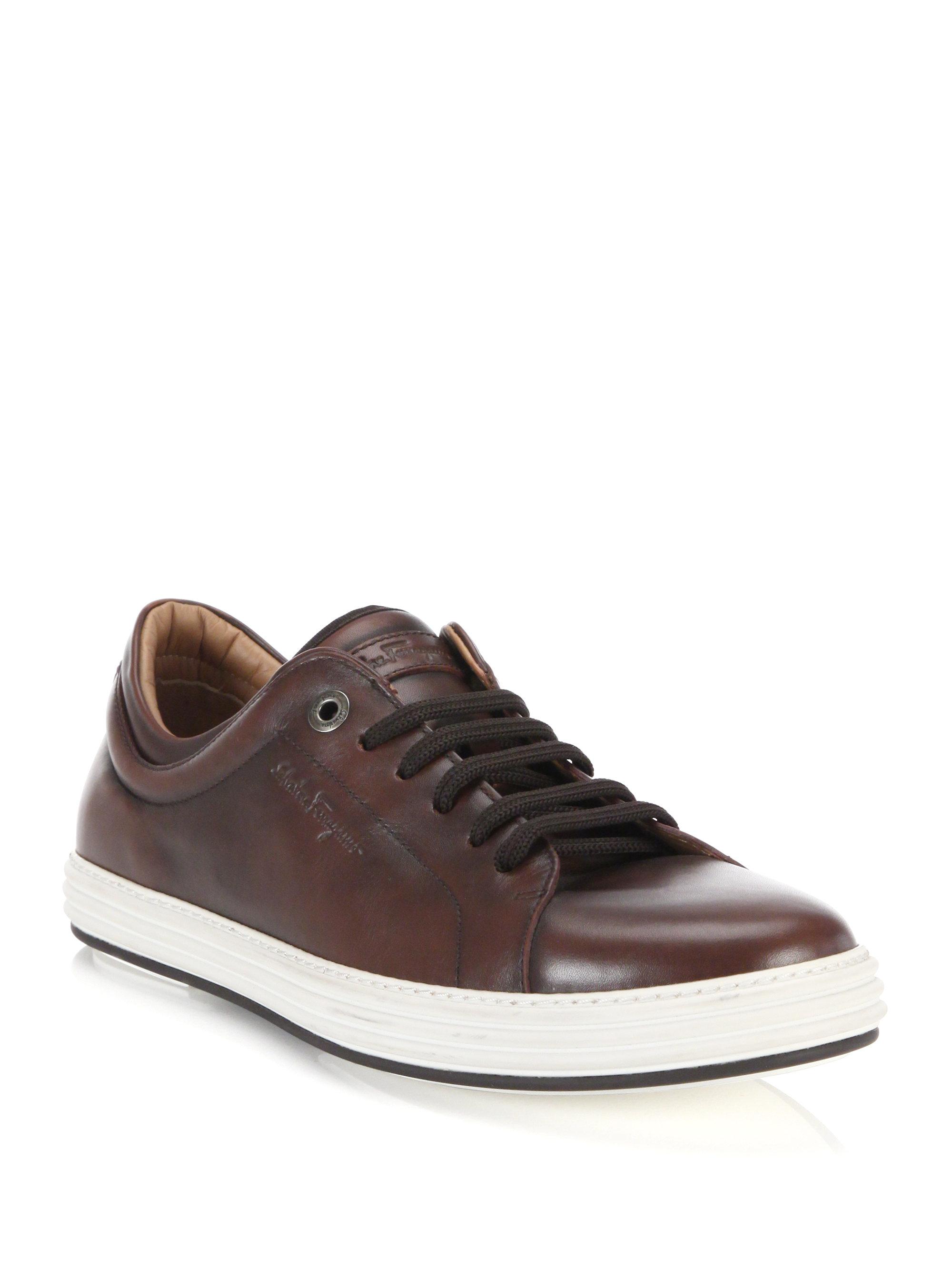 best service 40f0c 5a00b salvatore-ferragamo-radica-newport-low-top-leather-sneakers-product-0-940821162-normal.jpeg