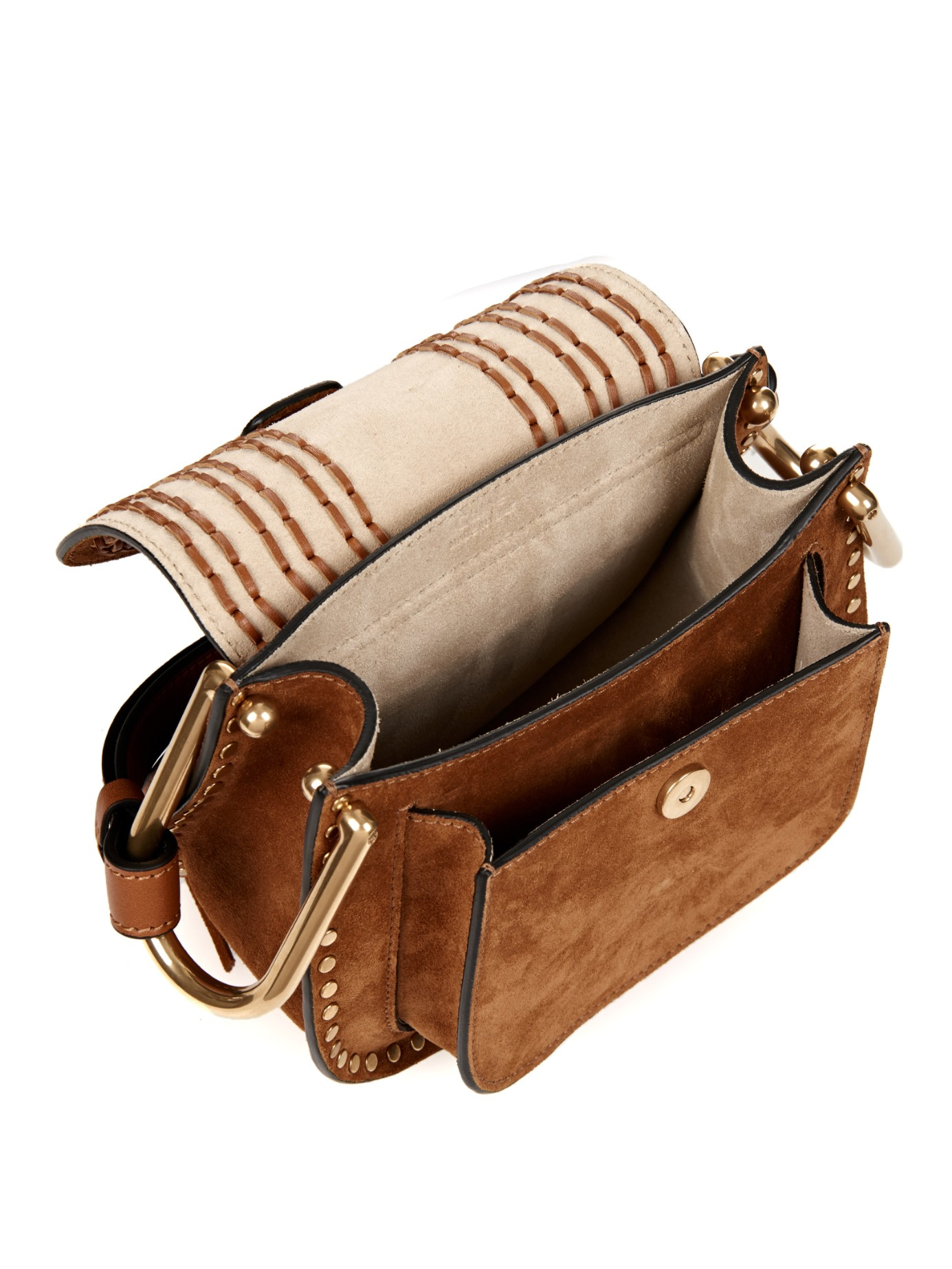 Le célèbre Lyst - Chloé Hudson Small Suede Cross-Body Bag in Brown &TZ_65