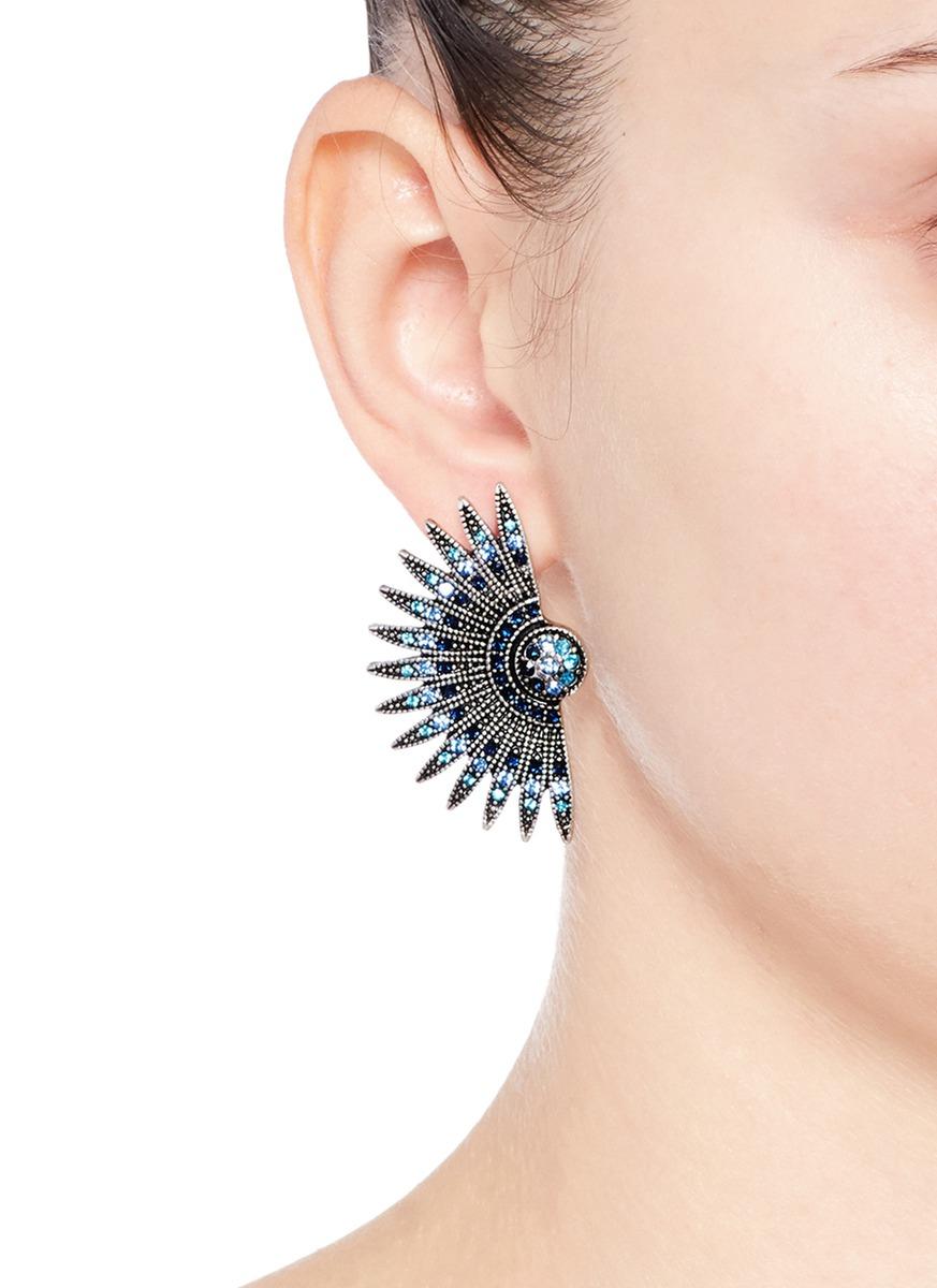 Lulu Frost Beacon Crystal Stud Earrings PAFtYp