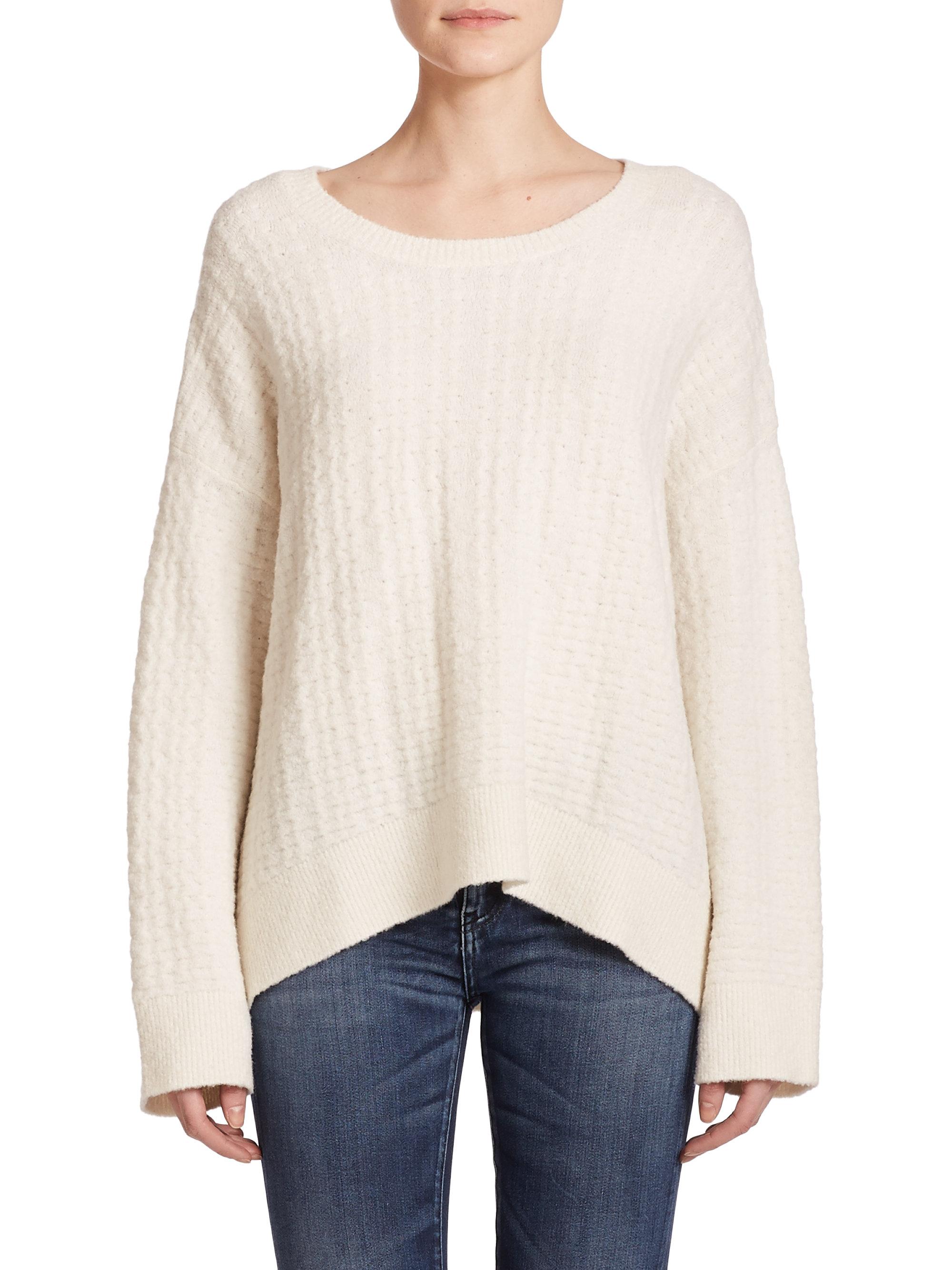 Iro Spring Oversized Sweater in White | Lyst