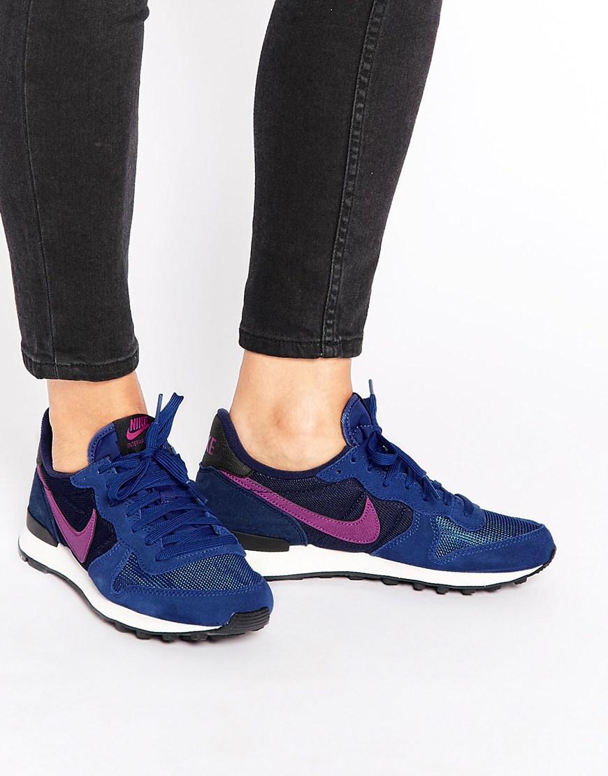 nike air huarache run femme - Nike Internationalist Blue & Pink Trainers in Blue | Lyst