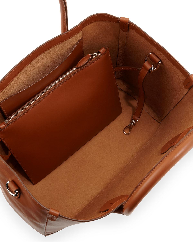 ralph lauren smooth leather east west tote bag in brown lyst. Black Bedroom Furniture Sets. Home Design Ideas