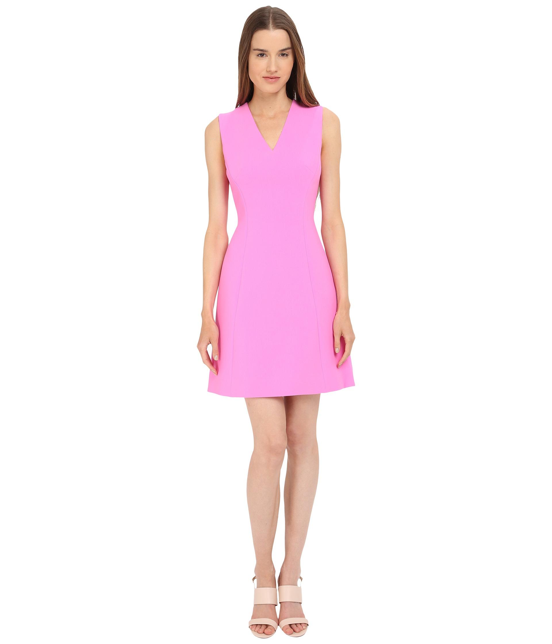 0aeca9ff385d Lyst - Kate Spade Crepe A-line Dress in Pink