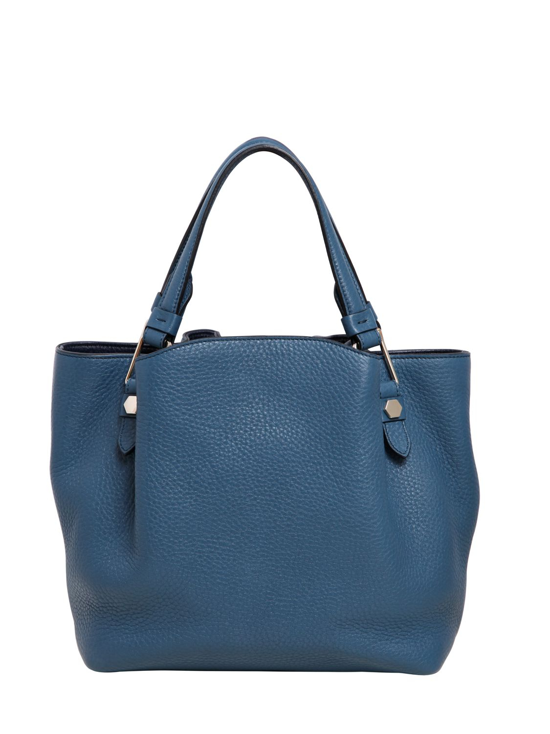 Tod's Small Flower Grained Leather Bag in Blue