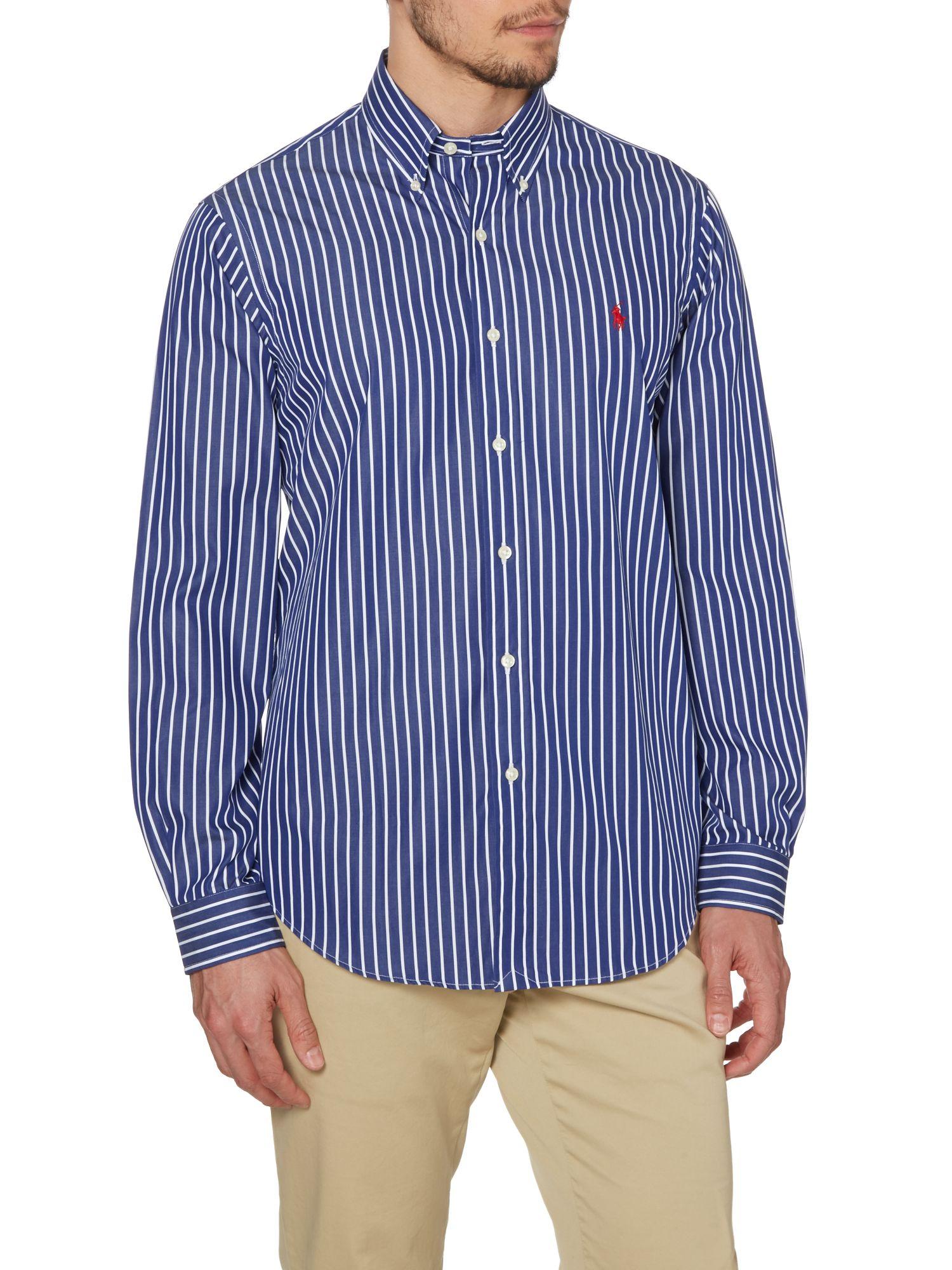 Polo ralph lauren Striped Long Sleeve Button Down Collar Shirt in ...