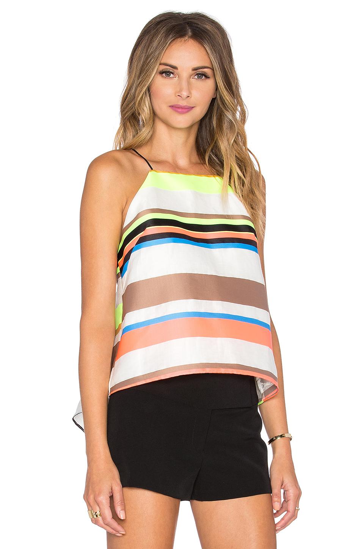1b9f2f9c835061 Lyst - MILLY Stripe Trapeze Cami