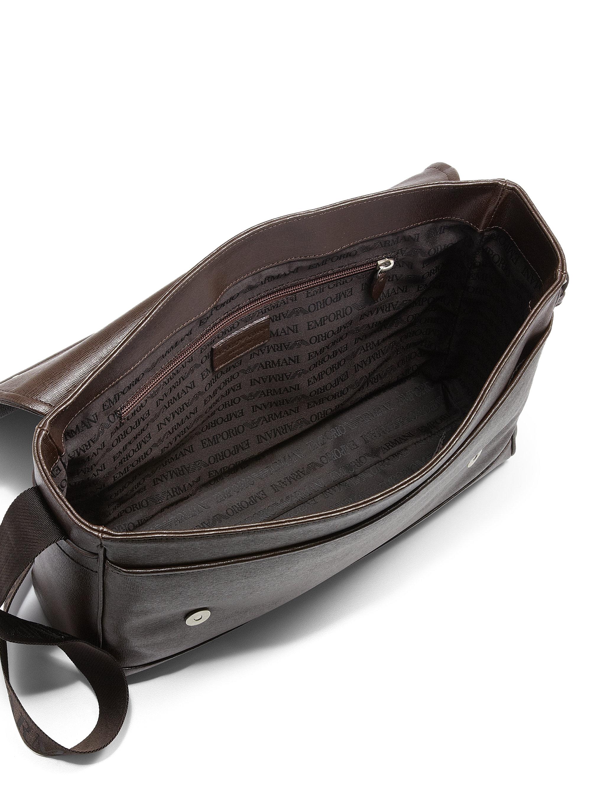 91318b29126 Emporio Armani Messenger Bag With Maxi Emblem Y4m180 Yg90j Scalia Emporio  Armani Messenger Bag Emporio Armani Embossed Quilted Logo Messenger Bag Men  ...
