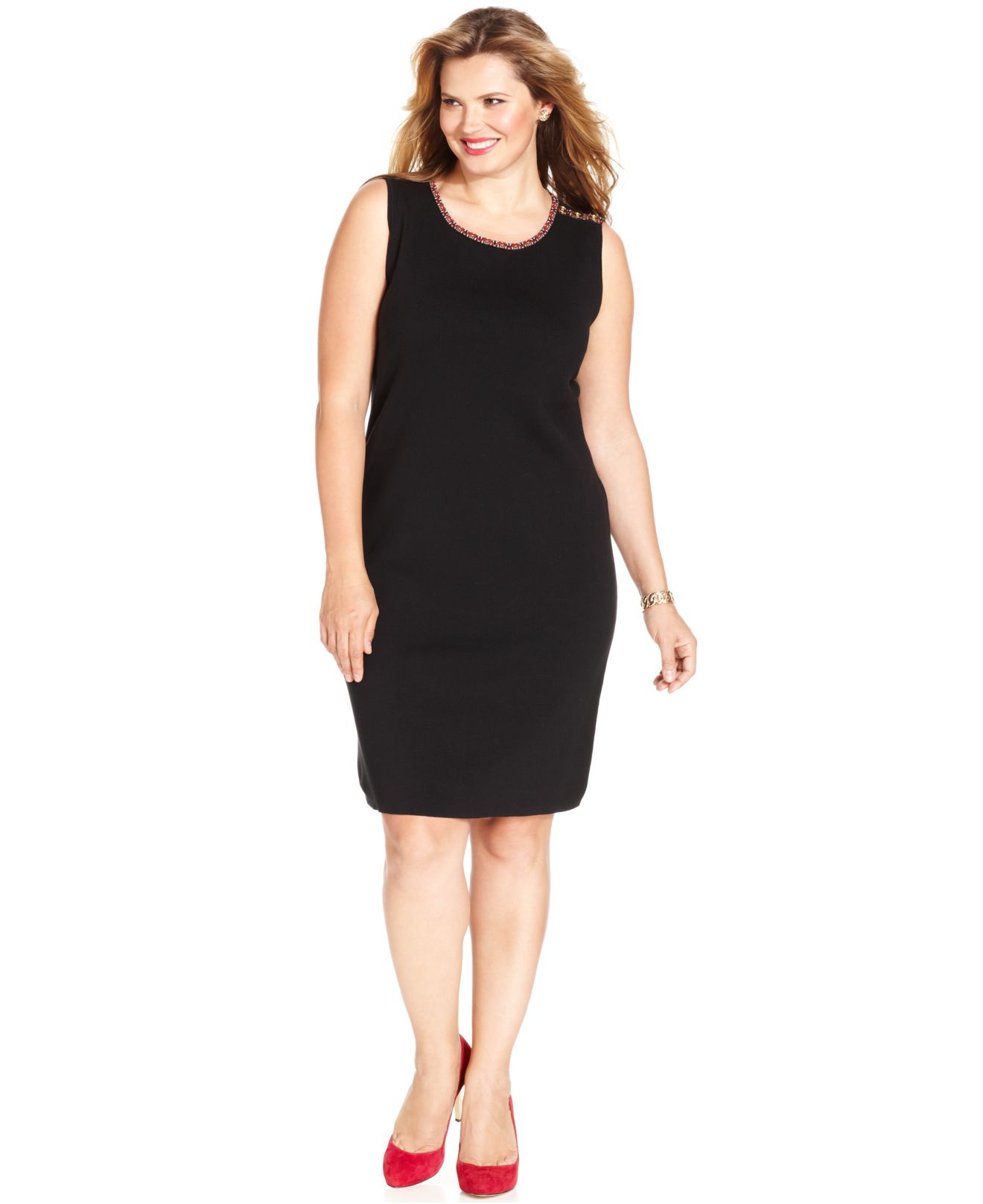 Jones new york signature plus size sleeveless sweater for New york and company dress shirts