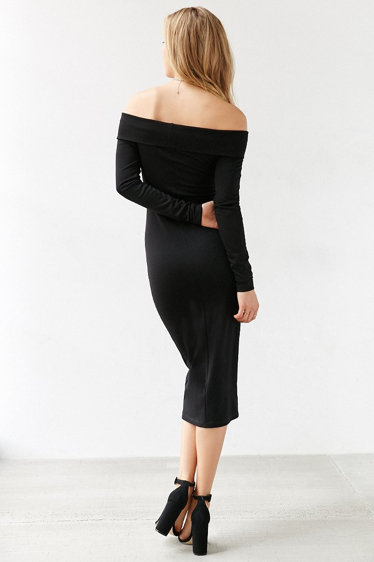 Lyst Silence Noise Off The Shoulder Long Sleeve Midi