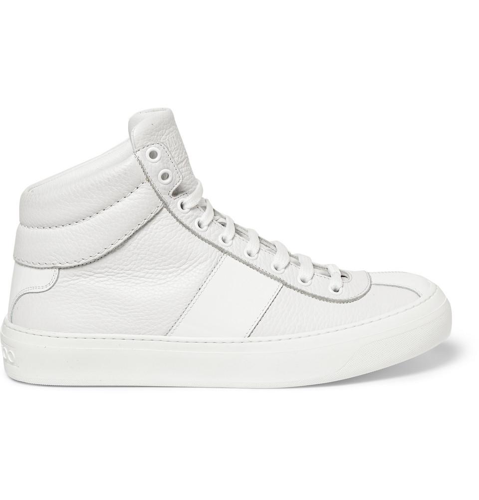 faff76d3a6f Lyst - Jimmy Choo Belgravia Fullgrain Leather High Top Sneakers in ...