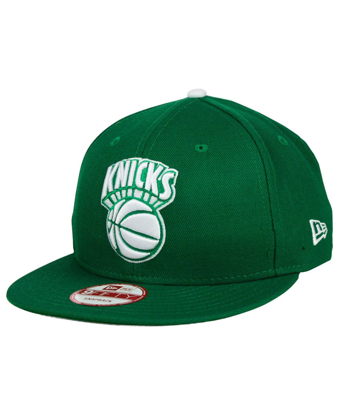 new product 8ff15 4d425 ... 59fifty cap fce0d 352d6 get lyst ktz new york knicks hwc st. pat 9fifty  snapback cap in green fa764 cheap new era ...