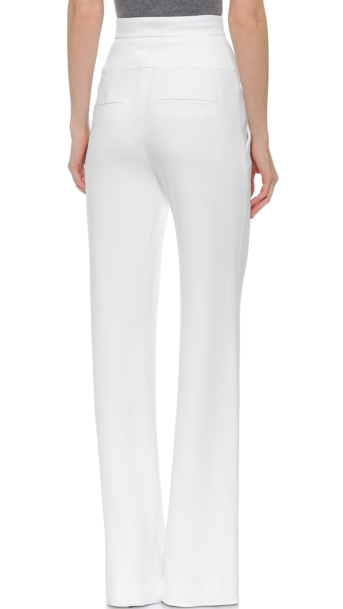 2018 Cheap Sale High Waisted Cropped Flare Pants Cushnie et Ochs Clearance Fashion Style Outlet Best Store To Get Fast Delivery Cheap Price Best Place Cheap Online 58q6pw