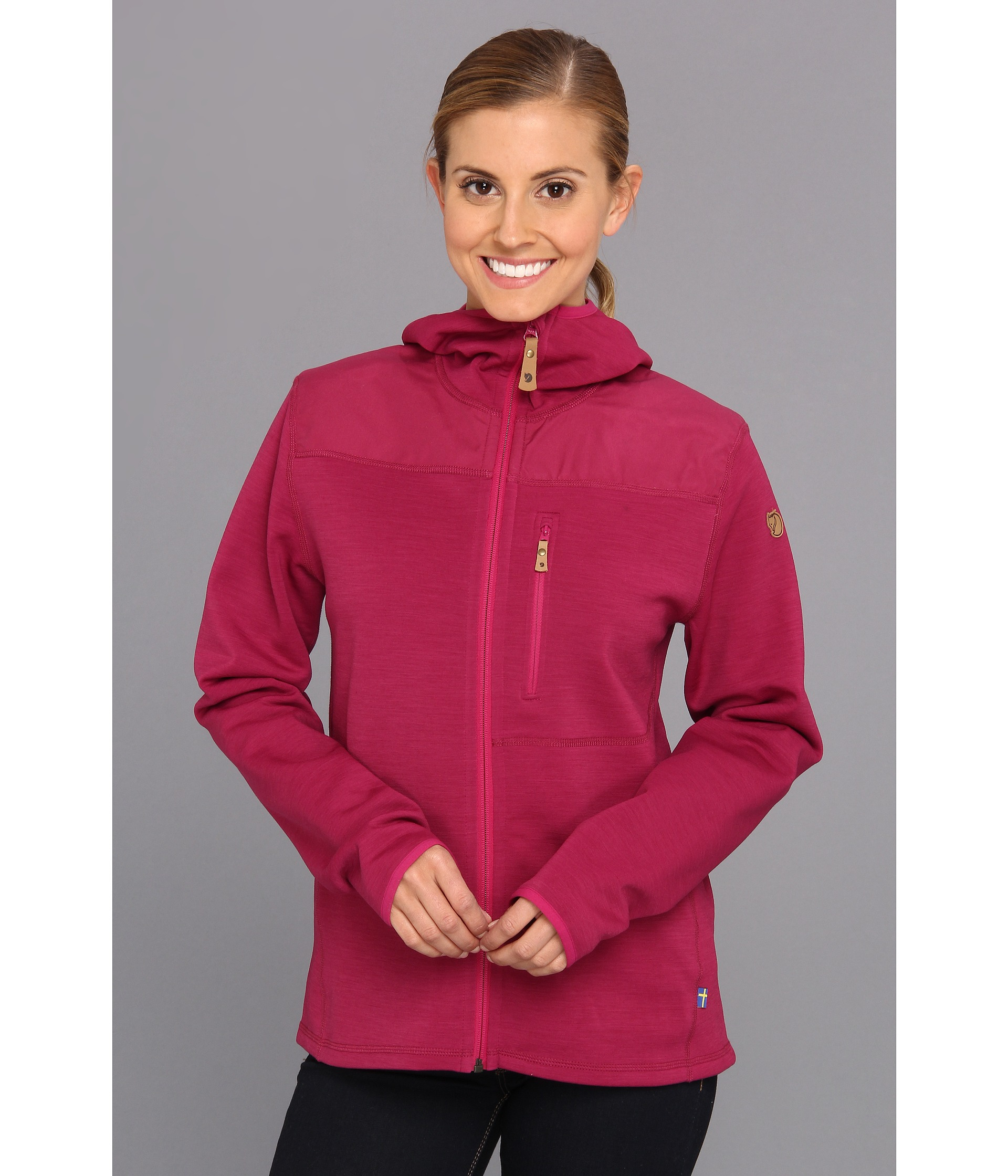Fjallraven Keb Fleece Jacket in Pink | Lyst