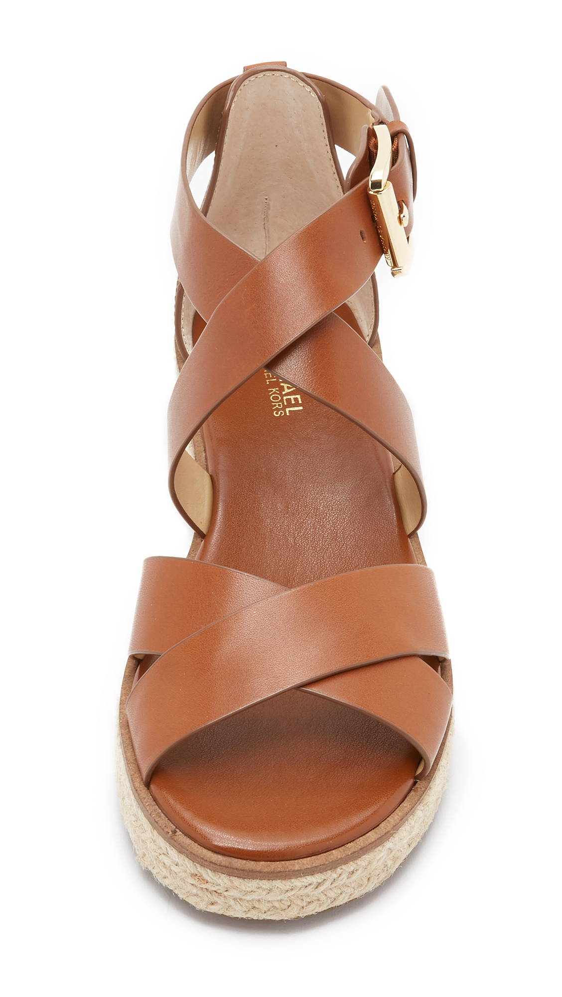 0a6142596468 Lyst - MICHAEL Michael Kors Darby Sandals in Brown