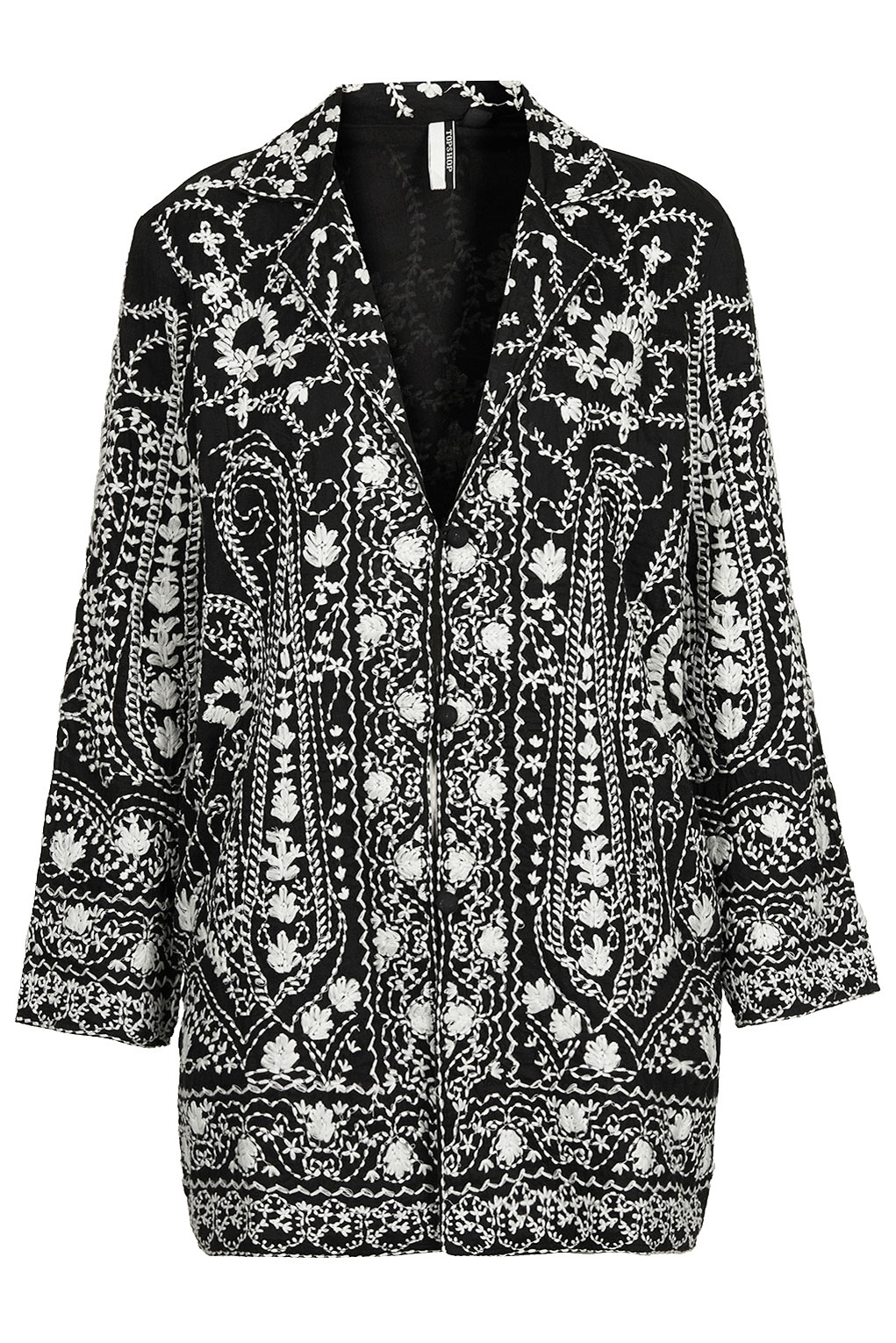 Lyst Topshop Womens Premium Embroidered Duster Jacket