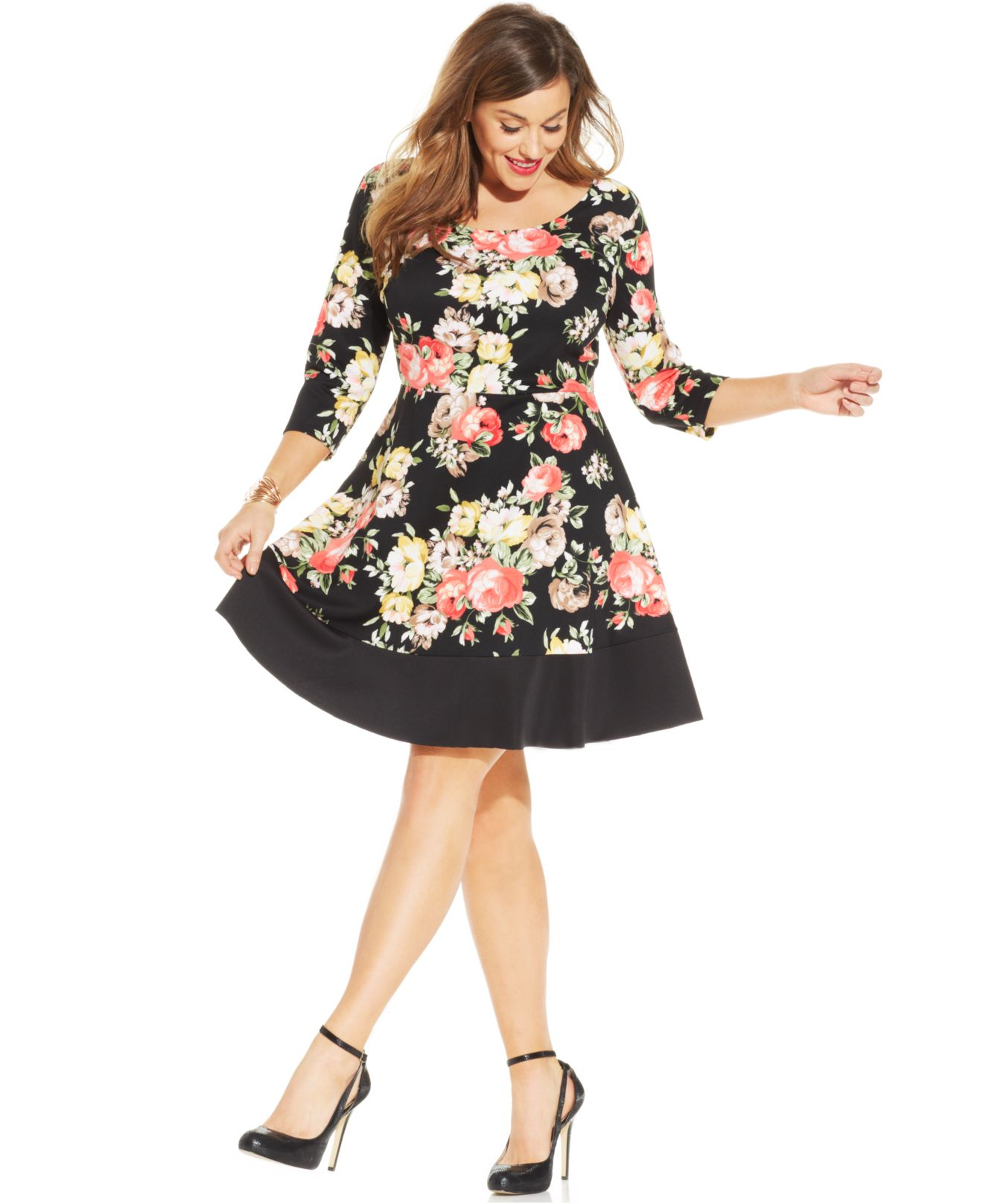 macy s pink floral dress