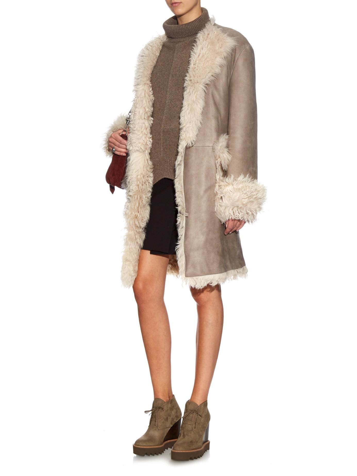 Reversible Shearling Coat Coat Racks