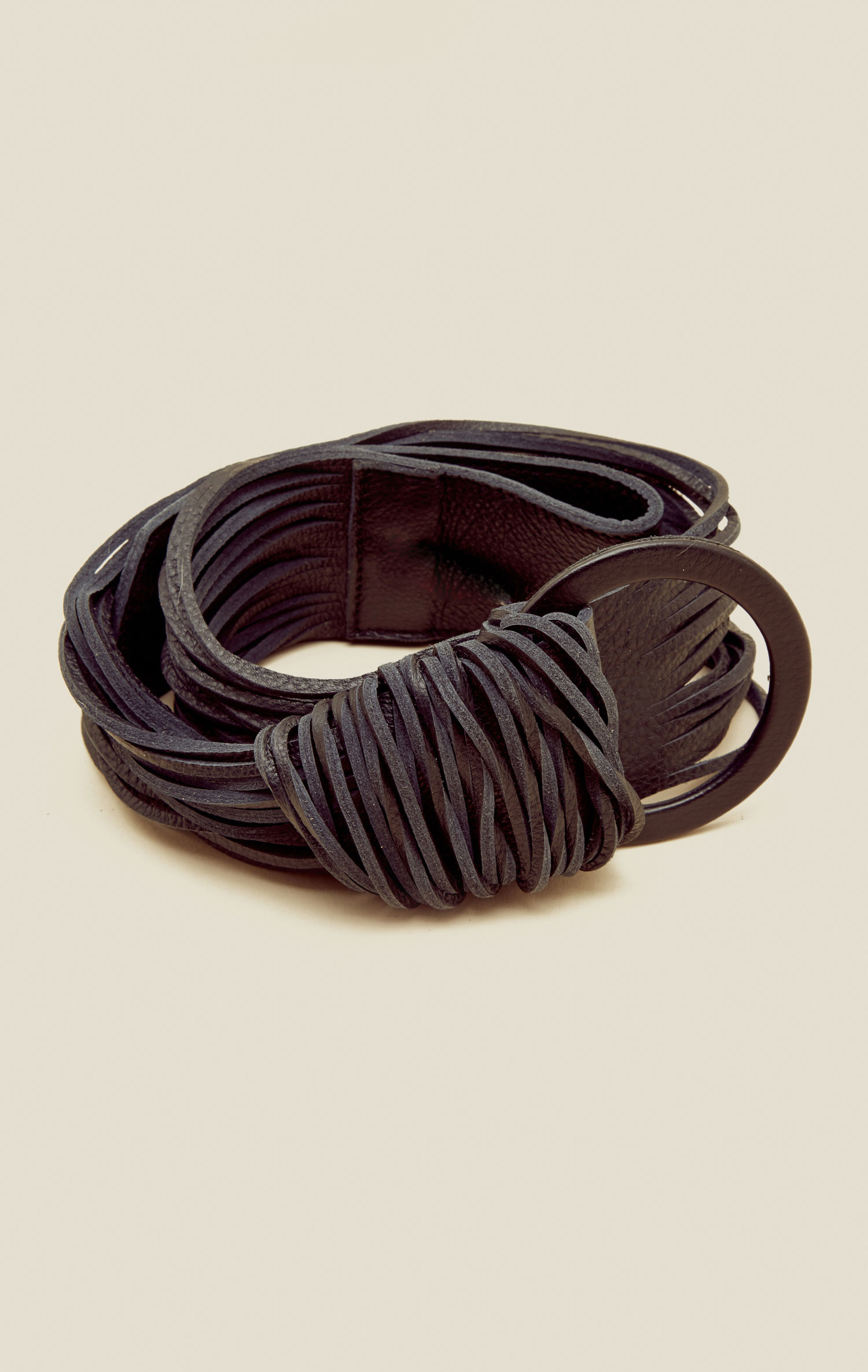 brave leather zuna belt in brown black lyst