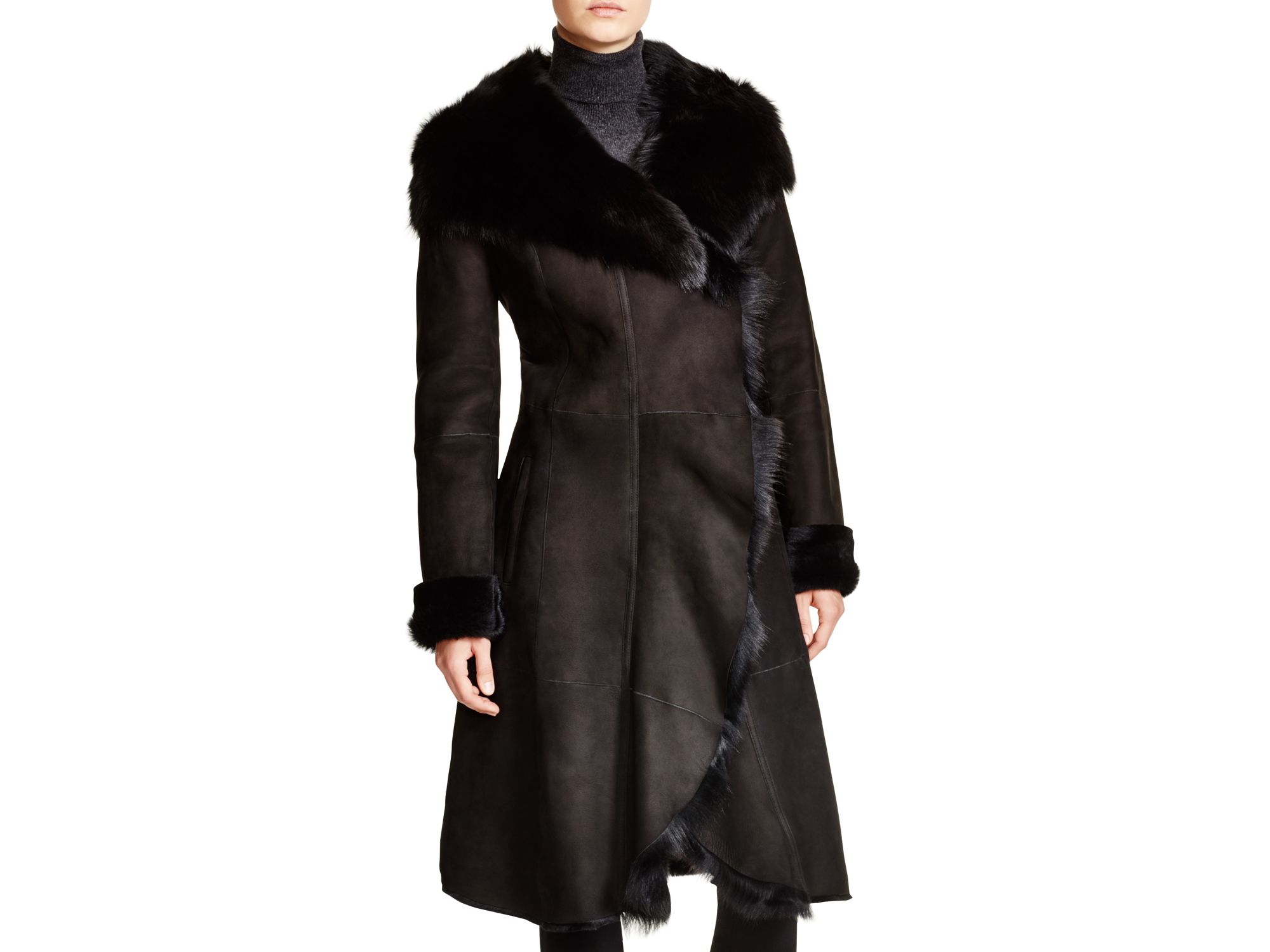 Maximilian Shearling Coat - Coat Nj