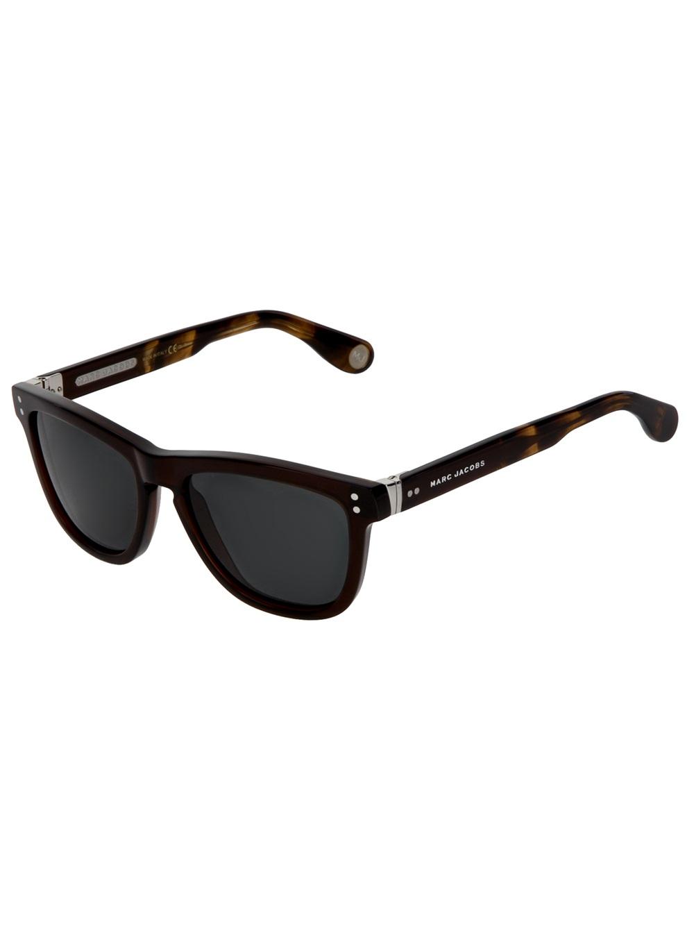 Marc Jacobs Sunglasses Men  marc jacobs wayfarer sunglasses in black for men lyst
