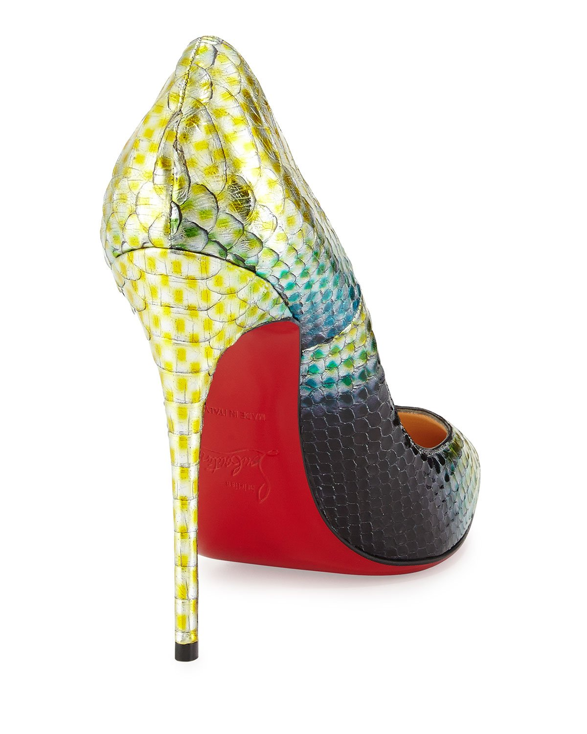 sneaker replicas - Christian louboutin So Kate Python Mermaid Pumps in Multicolor ...