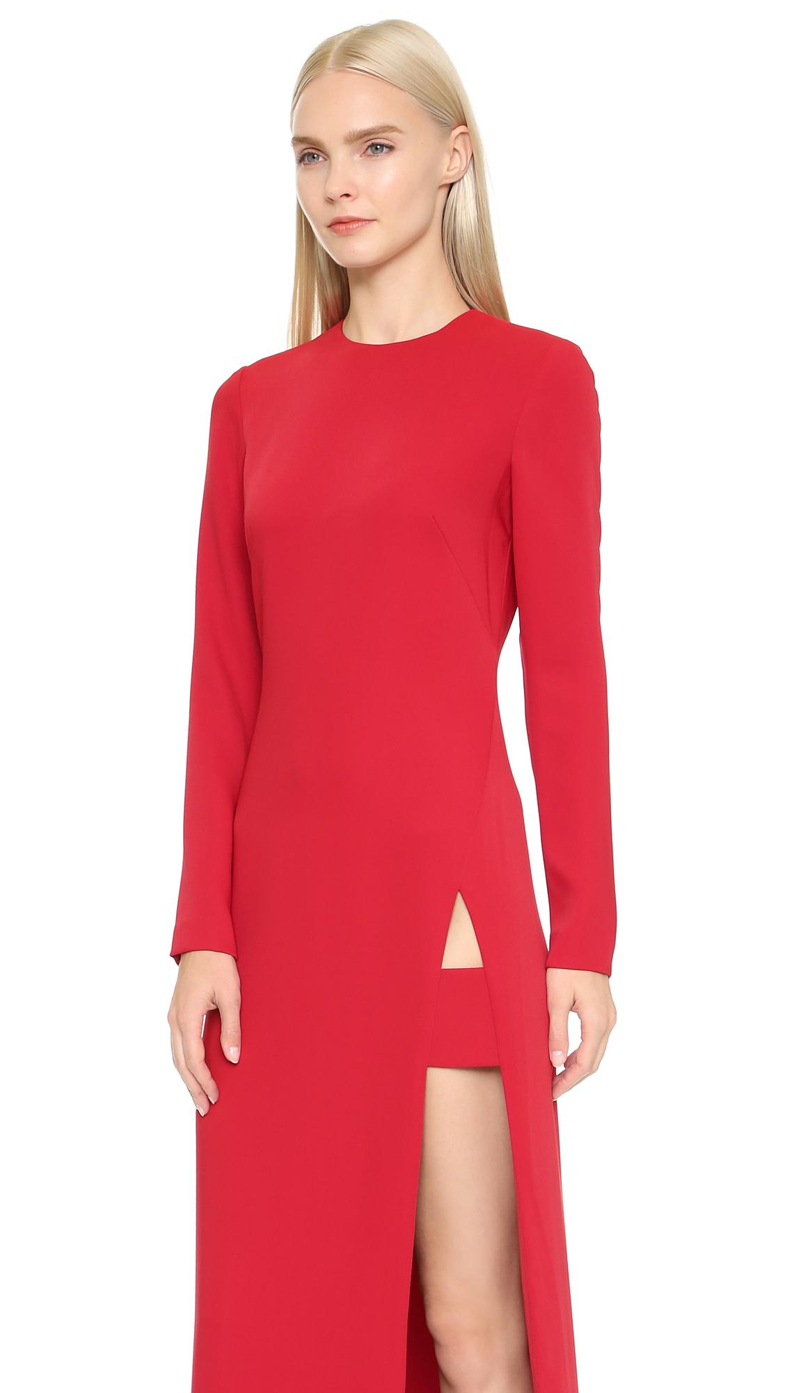 Lyst Jill Jill Stuart Long Sleeve Maxi Dress With Slit