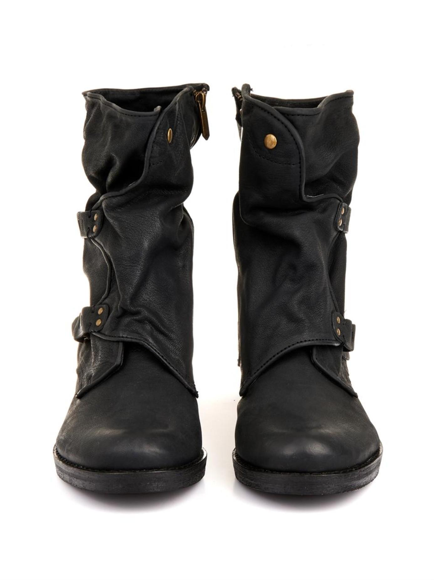 da1cdeb2127b Lyst - Sam Edelman Ridge Leather Boots in Black