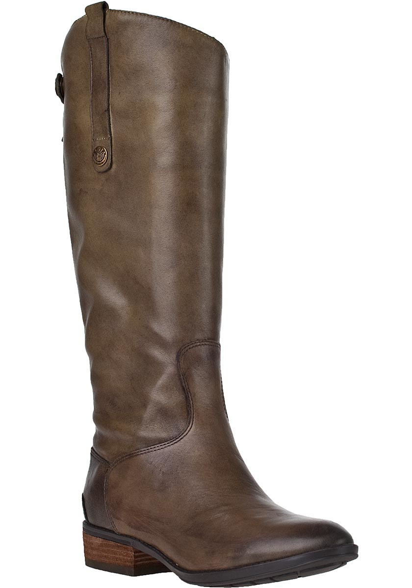 sam edelman boot olive leather in brown