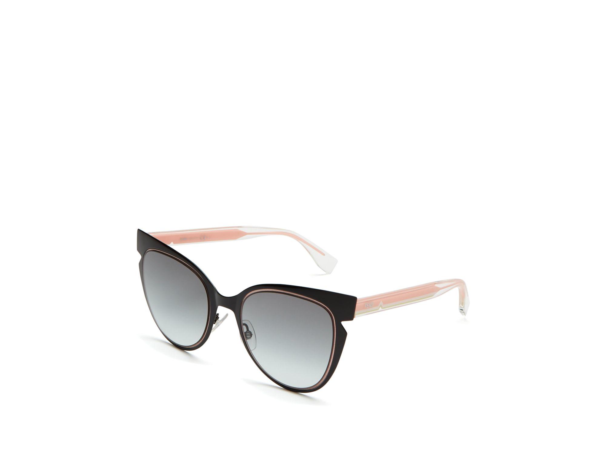 e9f729def4d3 Fendi Cut Out Cat Eye Sunglasses, 51mm in Black - Lyst