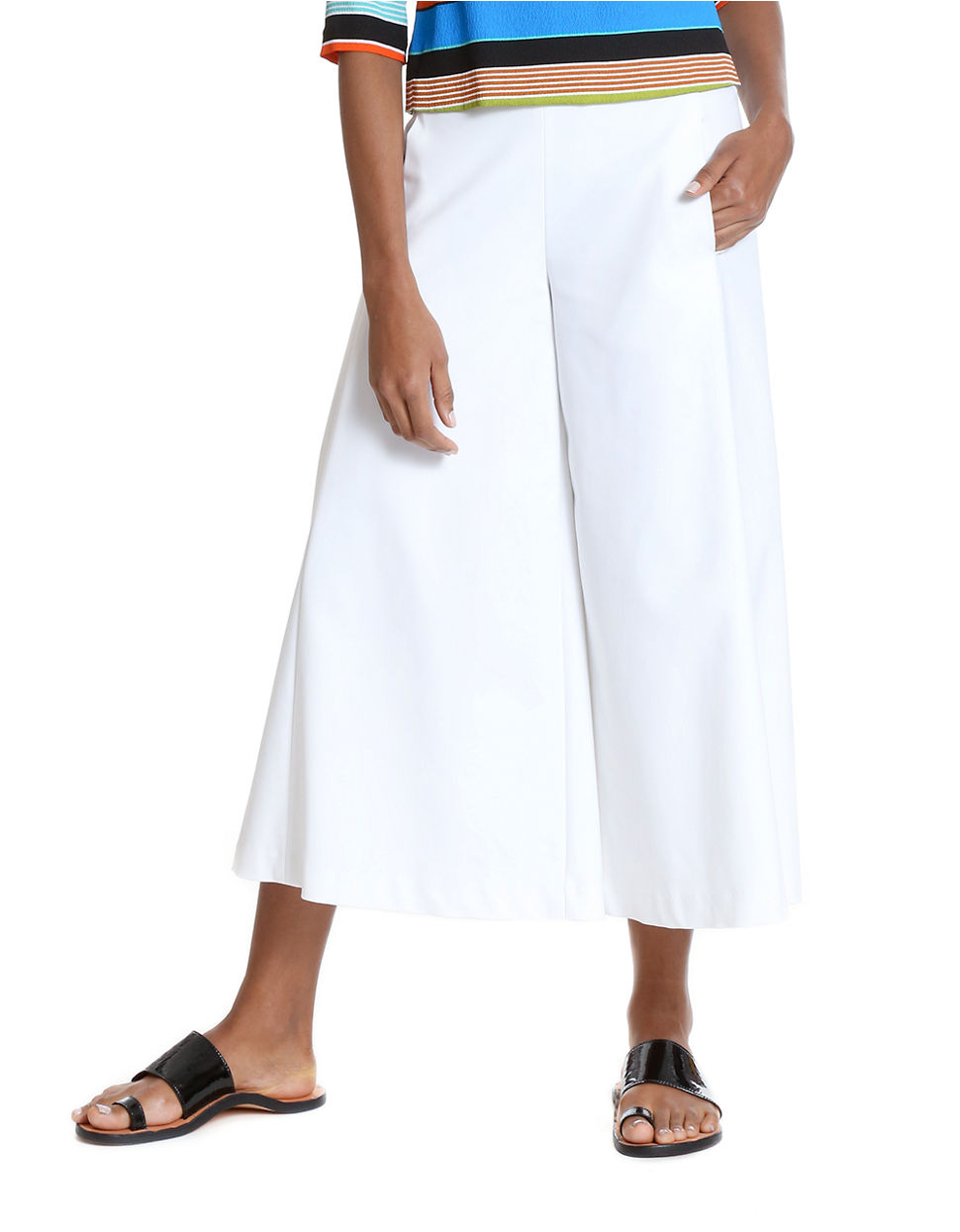 Tracy reese clean culottes lyst for How to clean white dress shirts
