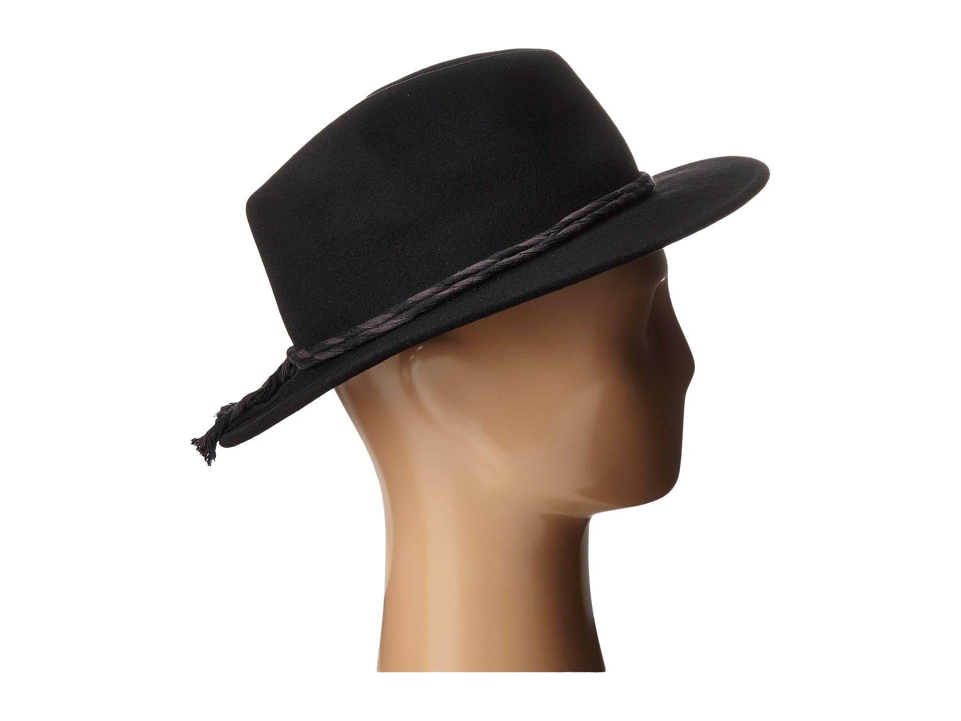 Lyst - Brixton Corbet Fedora in Black for Men 841119599c4