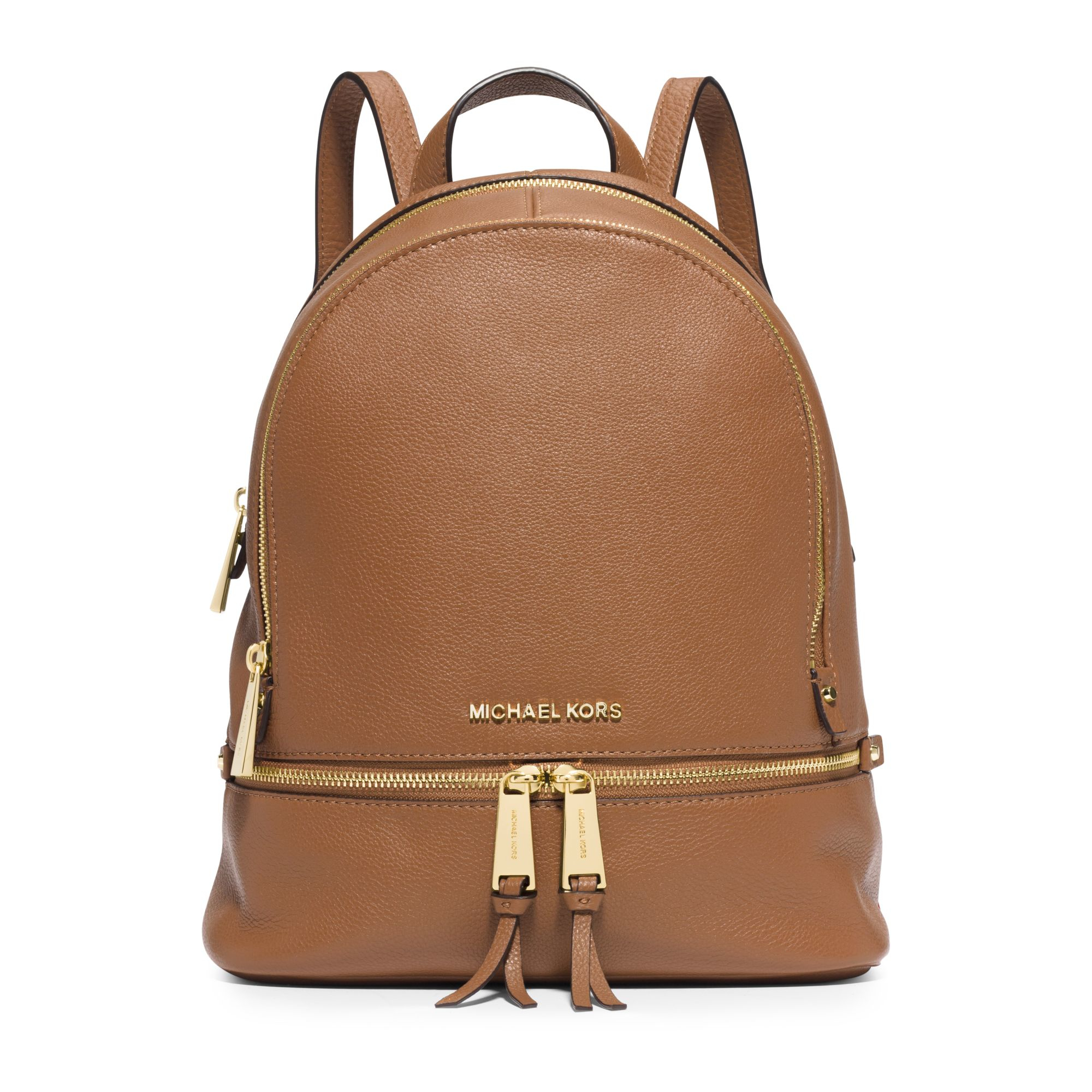 Michael kors Rhea Small Leather Backpack in Brown | Lyst
