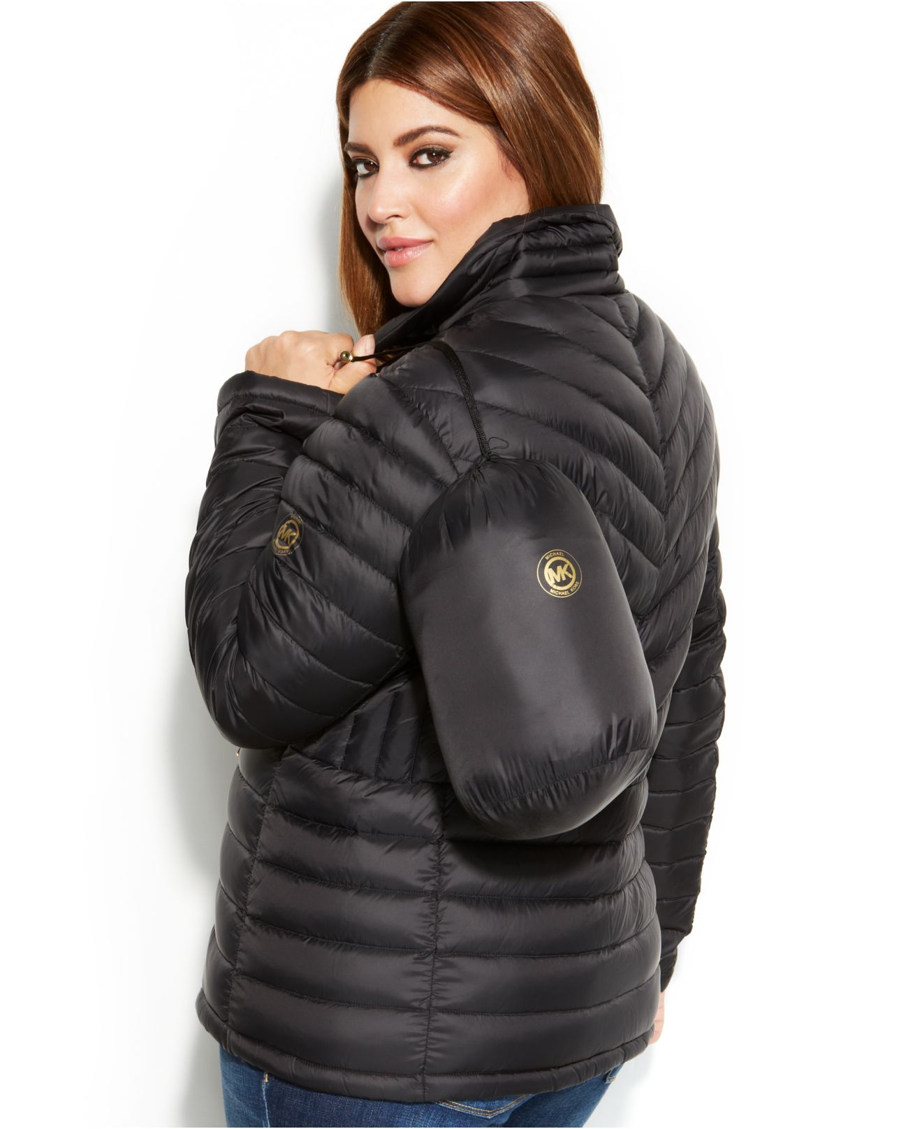 michael kors michael plus size packable quilted down puffer coat
