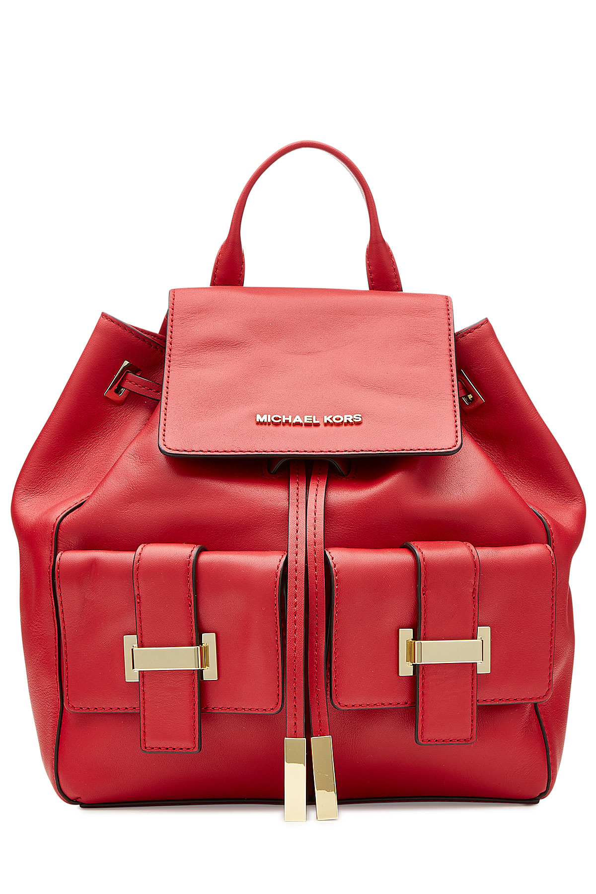 49ff1ee40cdd ... hot lyst michael michael kors leather marly backpack red in red 191aa  df1ef ...