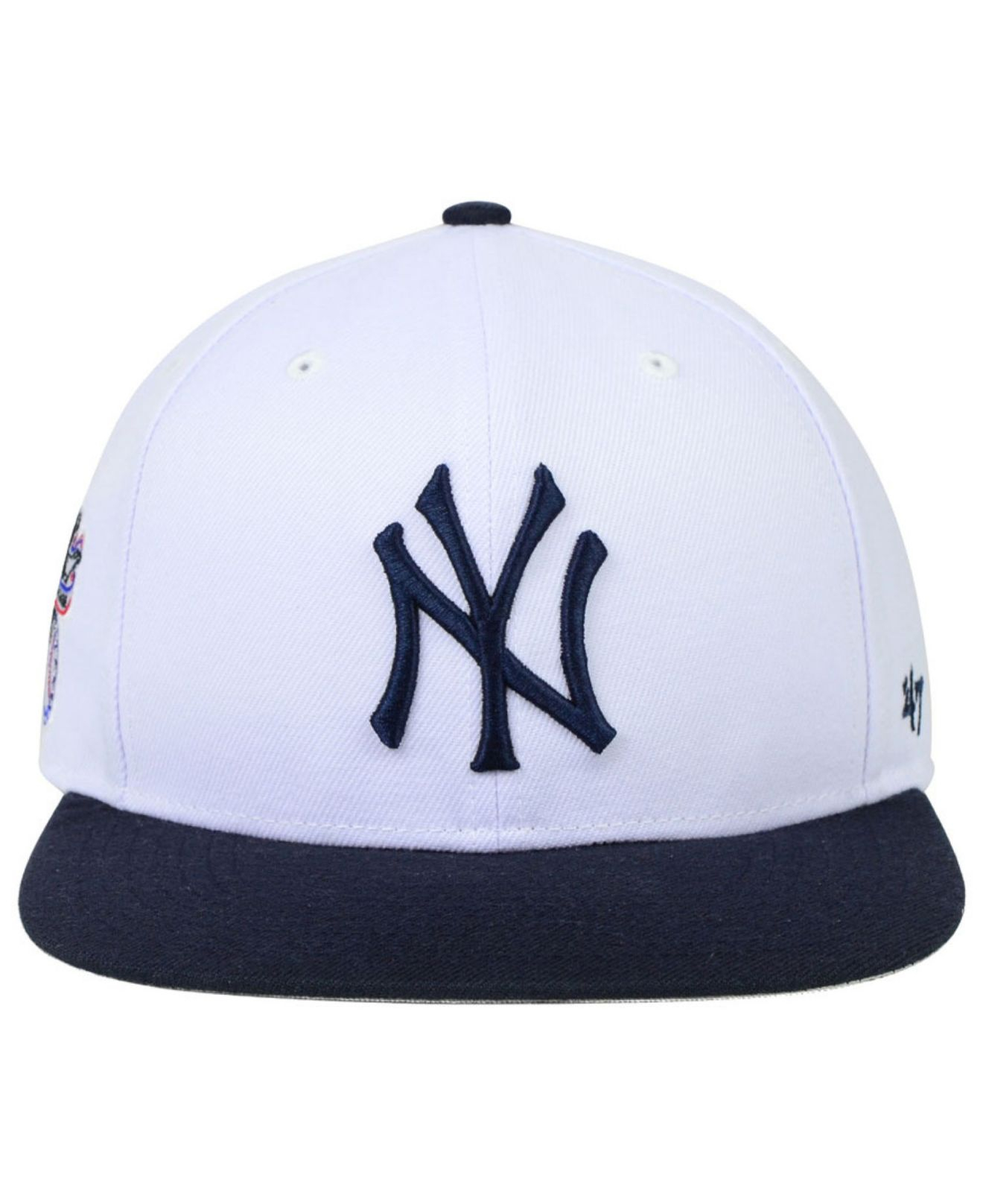 newest f1818 9b190 47 Brand New York Yankees Sure Shot Snapback Cap in White for Men - Lyst