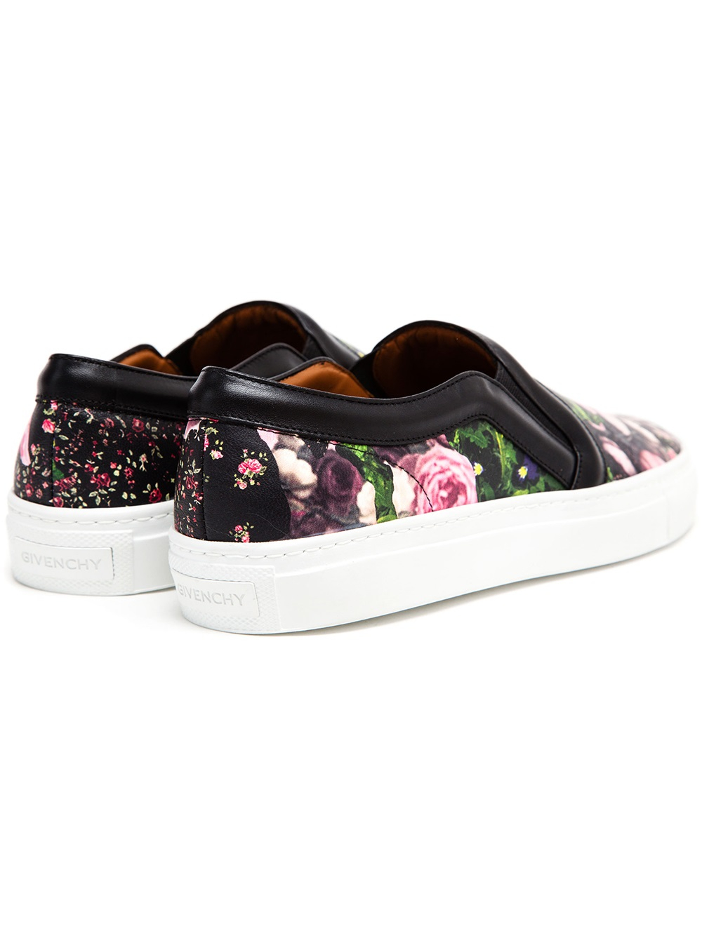 a049665e90 Lyst - Givenchy Floral Printed Leather Skater Shoes in Black