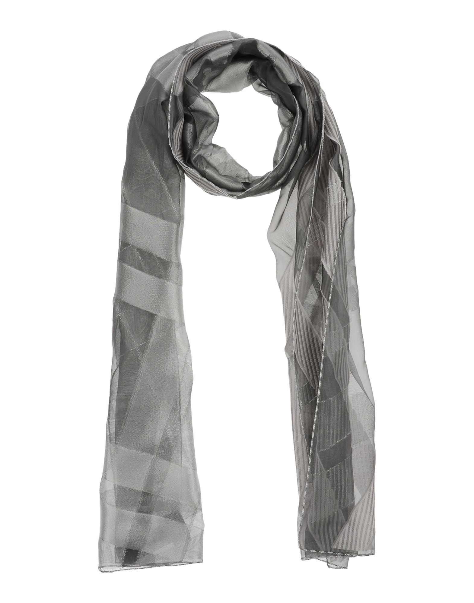 giorgio armani oblong scarf in metallic lyst