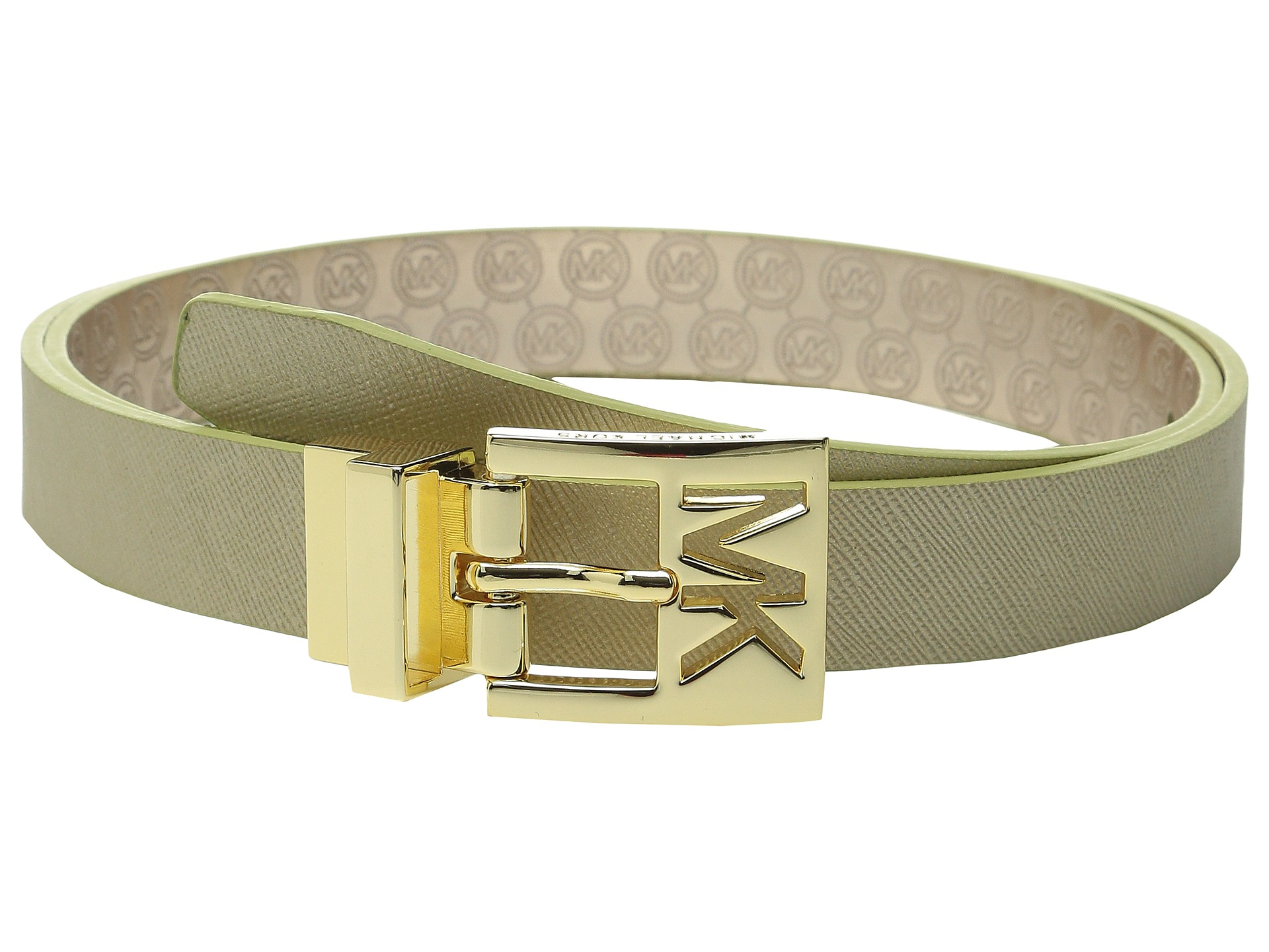 28543e0866f6 inexpensive michael kors reversible logo belt b29dd 2f38c  cheapest lyst  michael michael kors 25mm reversible saffiano to jet set 3e5c1 08dc3