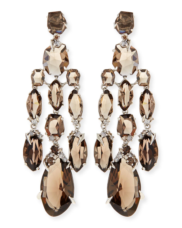 Lyst alexis bittar fine smoky quartz diamond chandelier earrings gallery mozeypictures Gallery