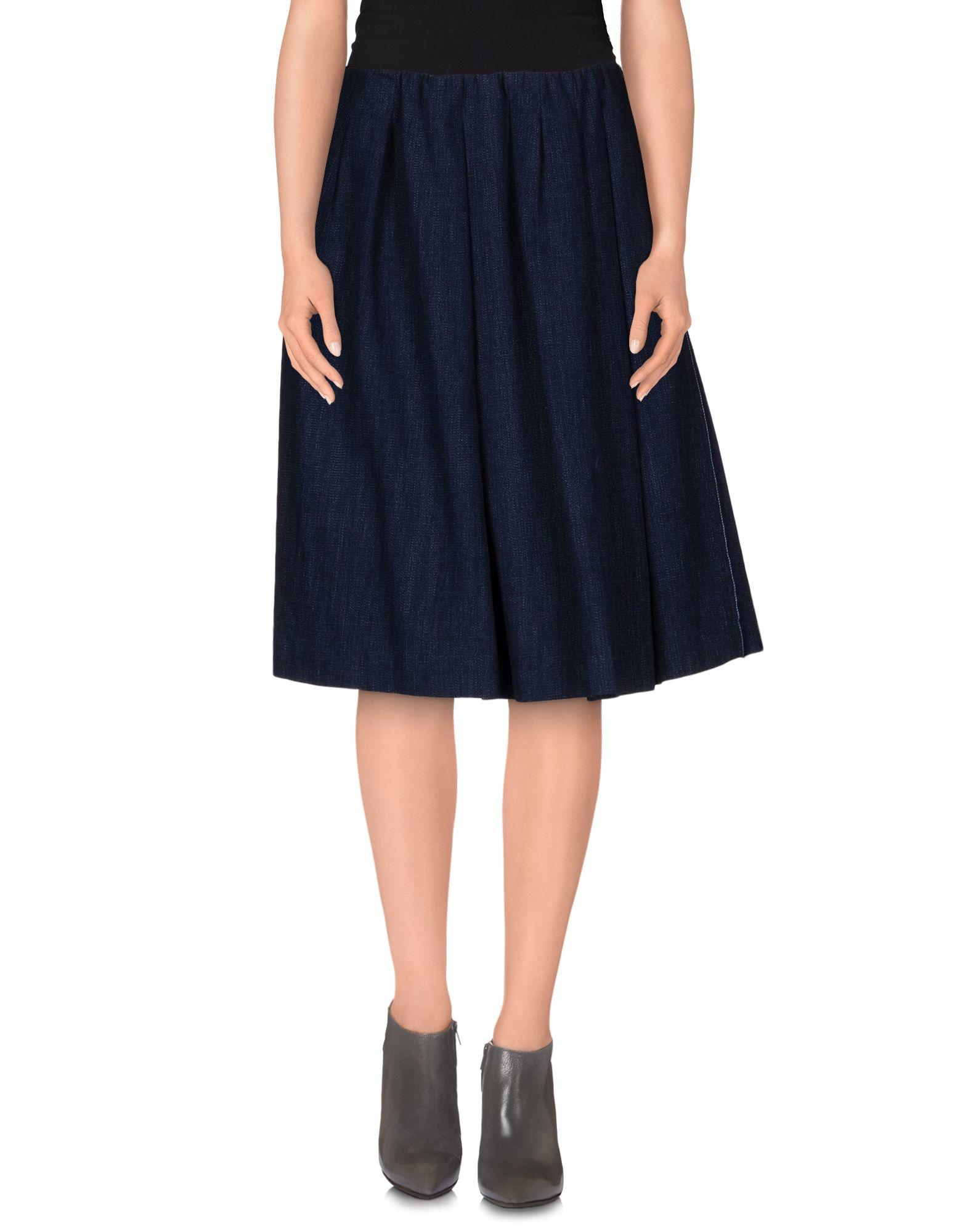 tela denim skirt in blue lyst