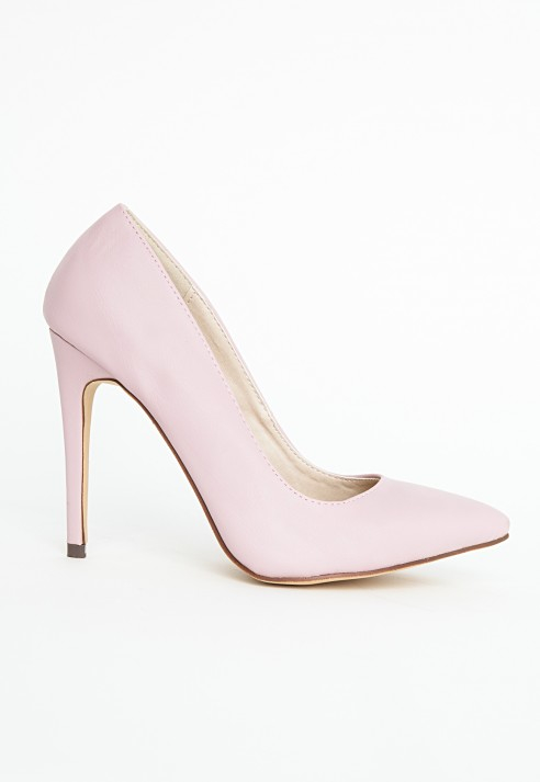 43d28ee9ca9 Missguided Natalie Court Shoes In Baby Pink in Pink - Lyst