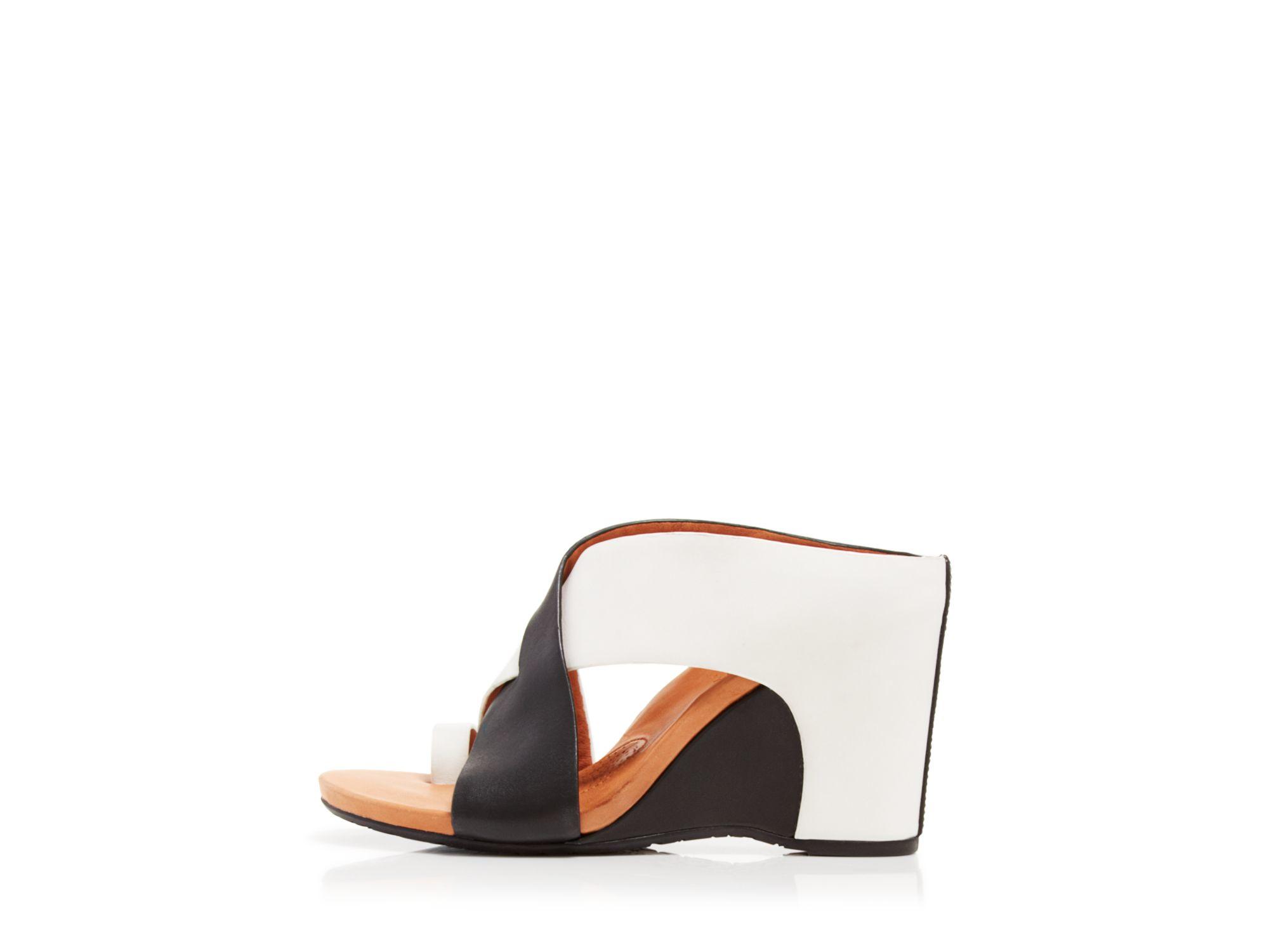 gentle souls wedge mule sandals indigo in white lyst