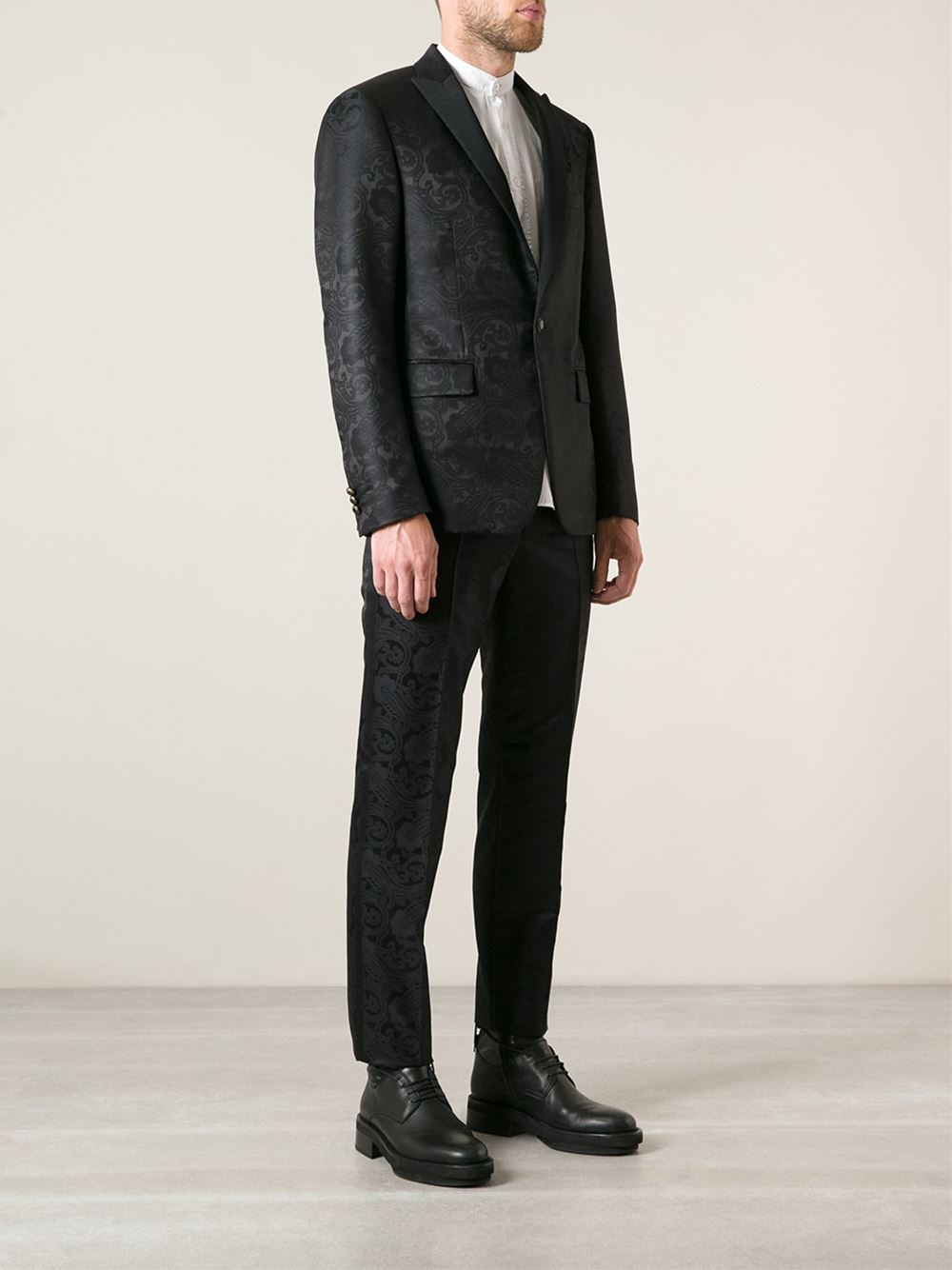 Lyst Etro Twopiece Baroque Suit In Black For Men