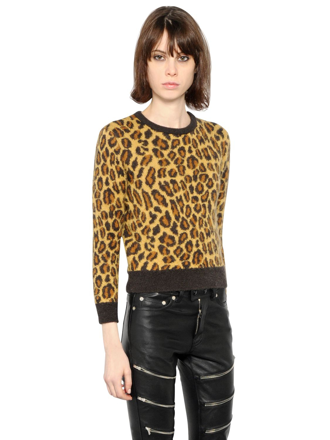 Womens Leopard-Print Mohair-Blend Sweater Saint Laurent Buy Cheap Ebay Low Price Fee Shipping Online Perfect Cheap Online Buy Cheap Browse FRWOGsd