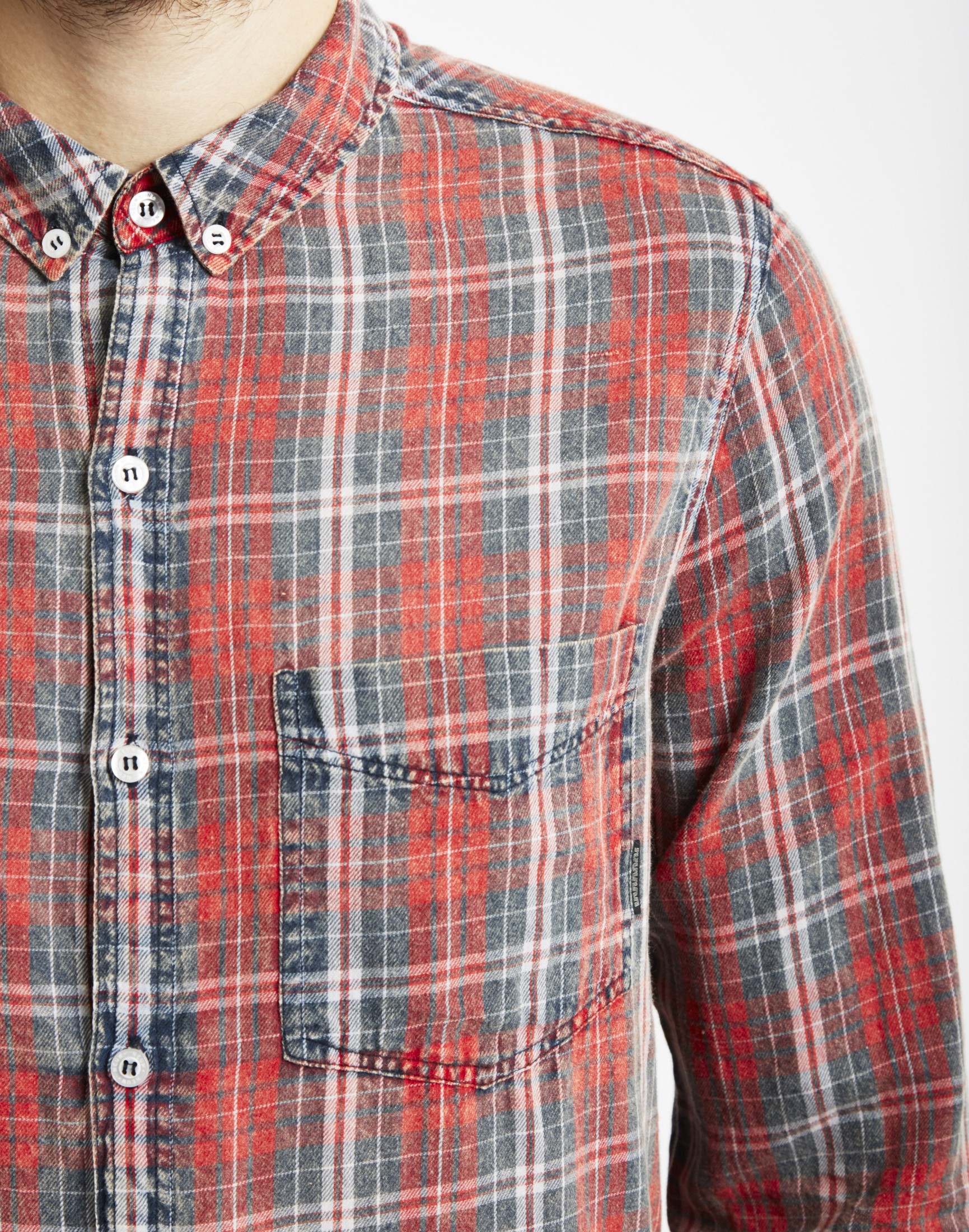 f0db941f46 Lyst - Neuw Bob Shirt Acid Check Red in Red for Men
