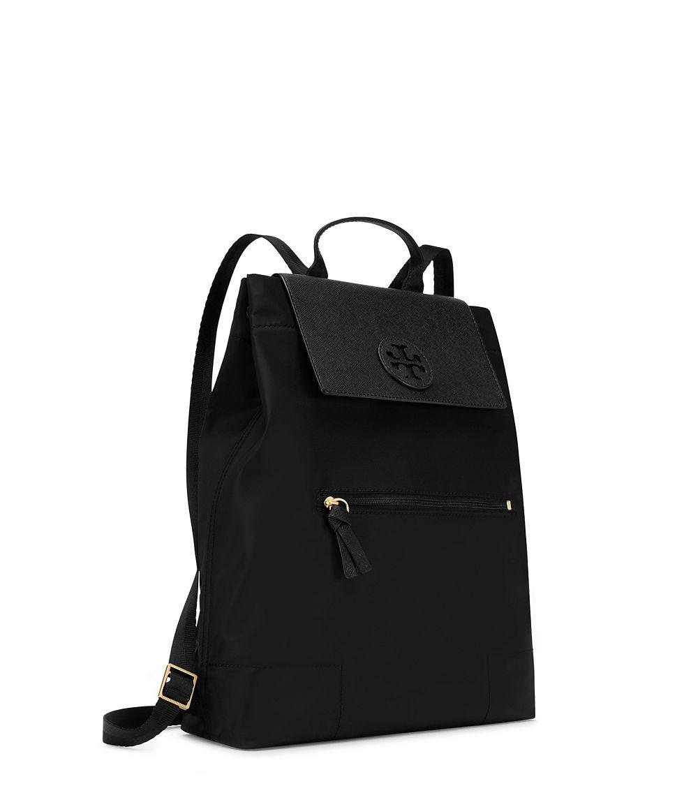 f6630fb0b0c0 Tory Burch Ella Packable Backpack in Black - Lyst